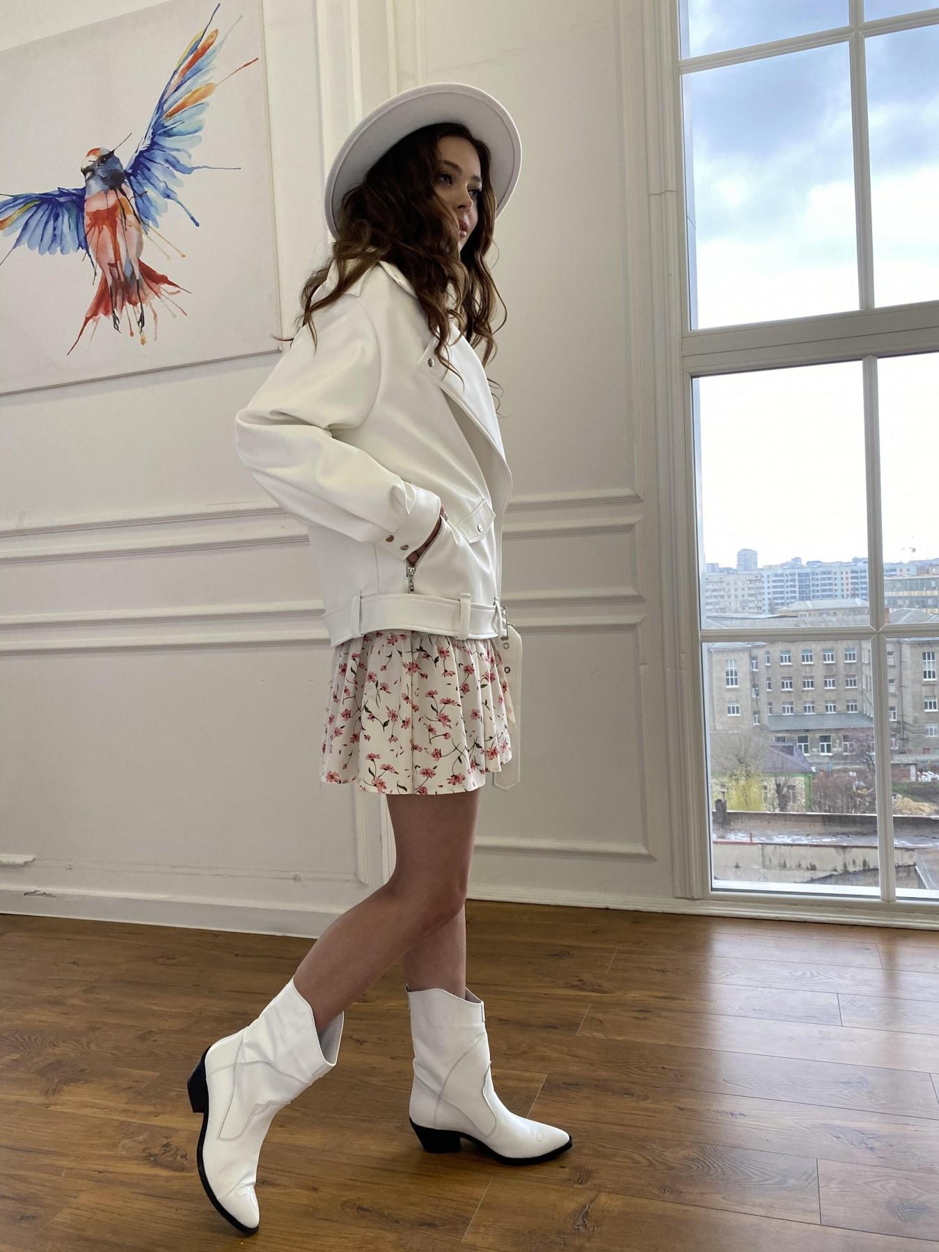 Фора куртка из экокожи прокатанная 11204 АРТ. 47716 Цвет: Молоко - фото 11, интернет магазин tm-modus.ru