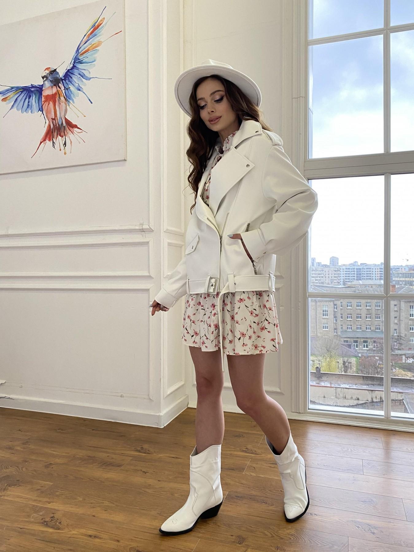 Фора куртка из экокожи прокатанная 11204 АРТ. 47716 Цвет: Молоко - фото 12, интернет магазин tm-modus.ru