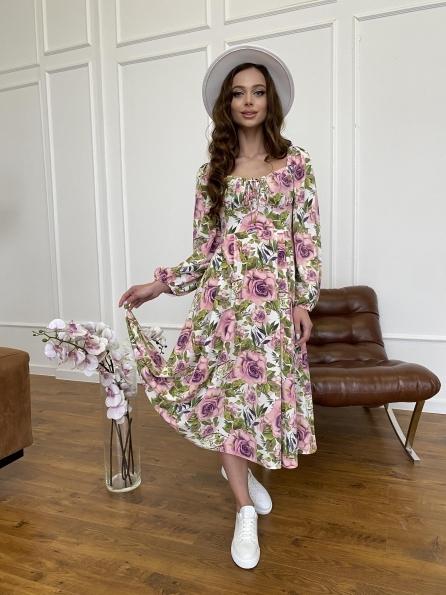 """Купить """" Натали"""" платье софт принт бистрейч 11196 оптом и в розницу"""