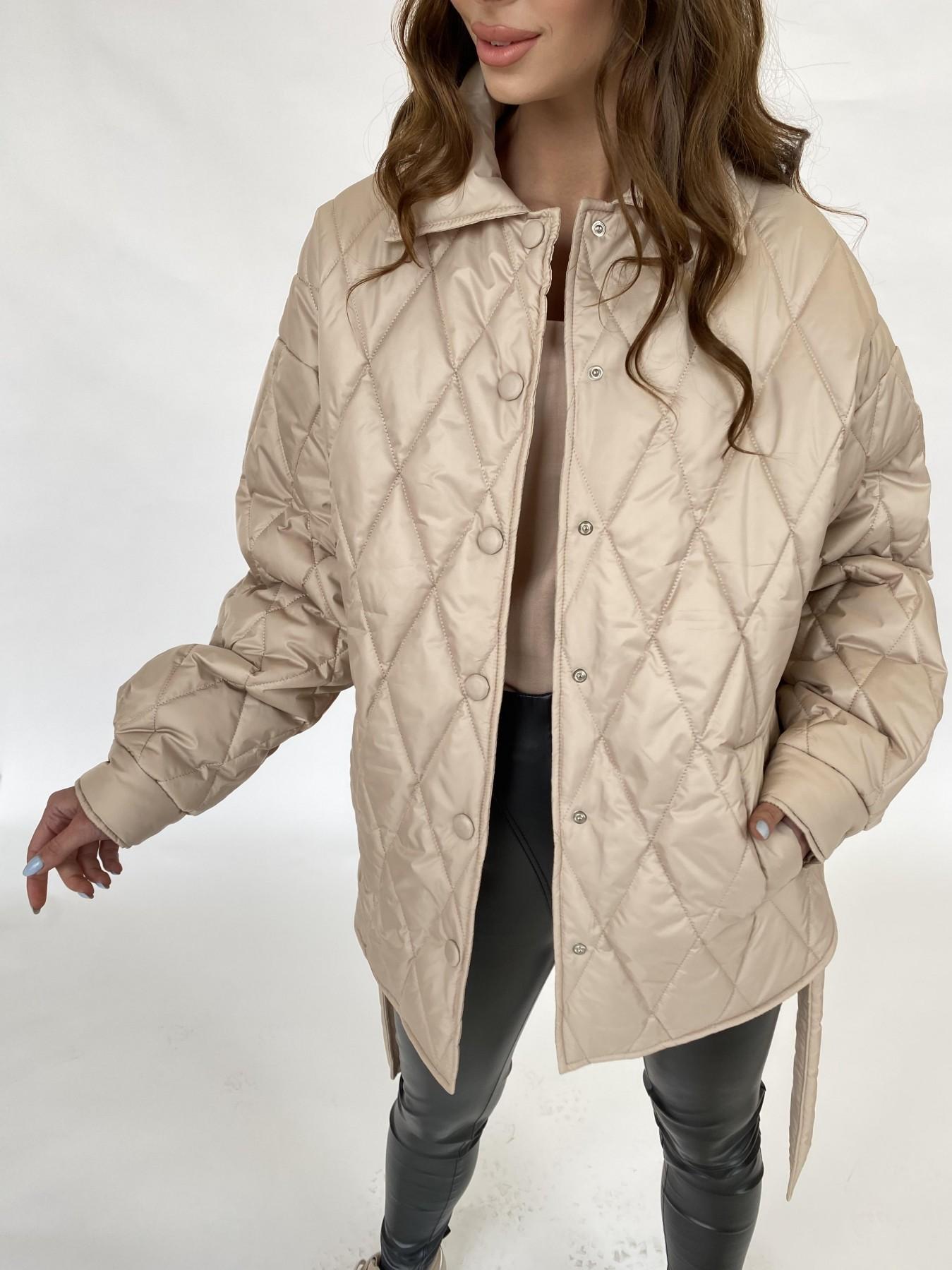 Моно  куртка из плащевой ткани Gloria 11081 АРТ. 47571 Цвет: Бежевый - фото 1, интернет магазин tm-modus.ru