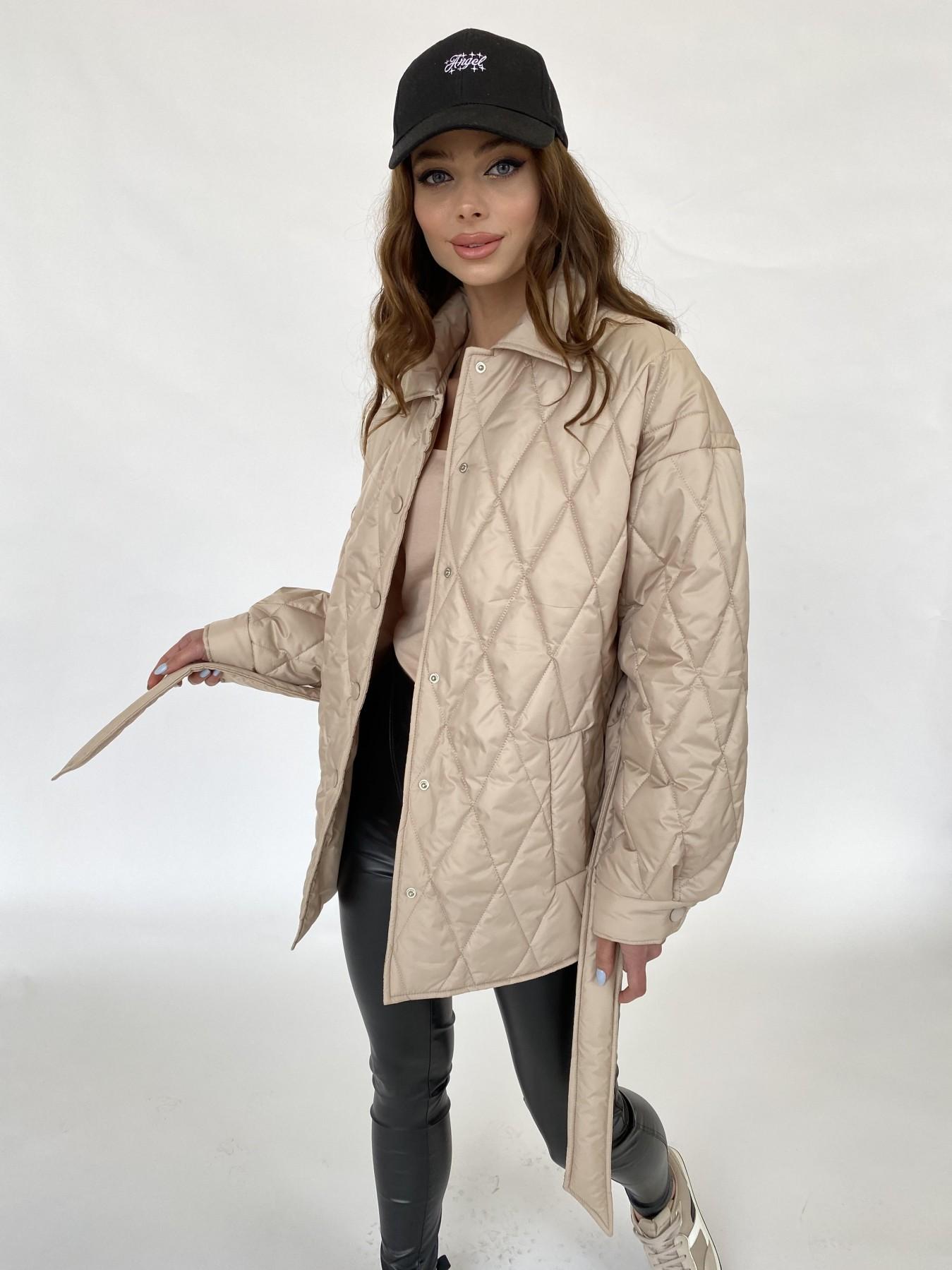 Моно  куртка из плащевой ткани Gloria 11081 АРТ. 47571 Цвет: Бежевый - фото 2, интернет магазин tm-modus.ru