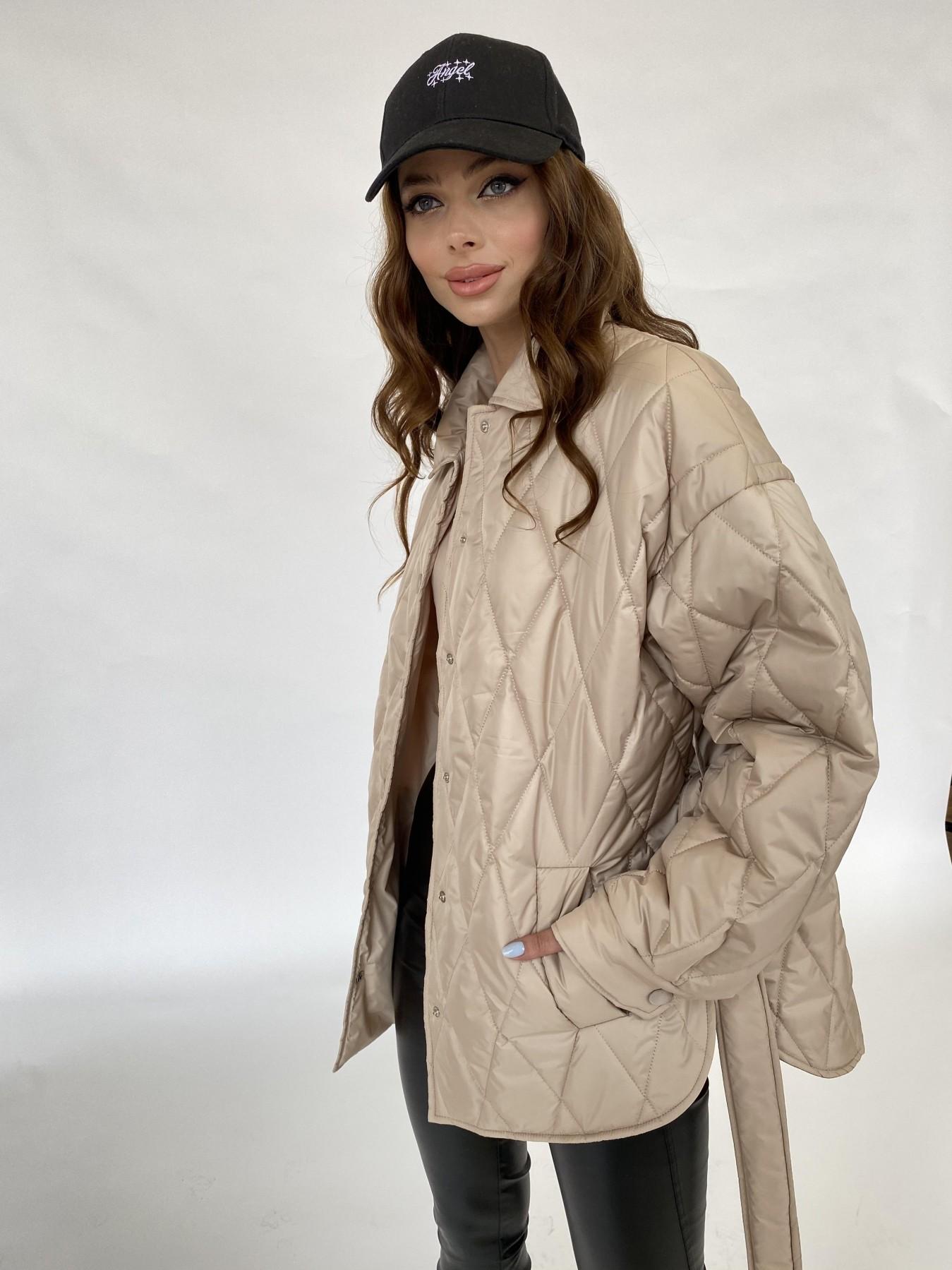 Моно  куртка из плащевой ткани Gloria 11081 АРТ. 47571 Цвет: Бежевый - фото 3, интернет магазин tm-modus.ru