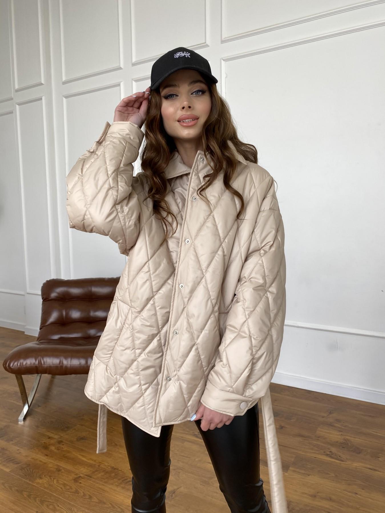 Моно  куртка из плащевой ткани Gloria 11081 АРТ. 47571 Цвет: Бежевый - фото 7, интернет магазин tm-modus.ru