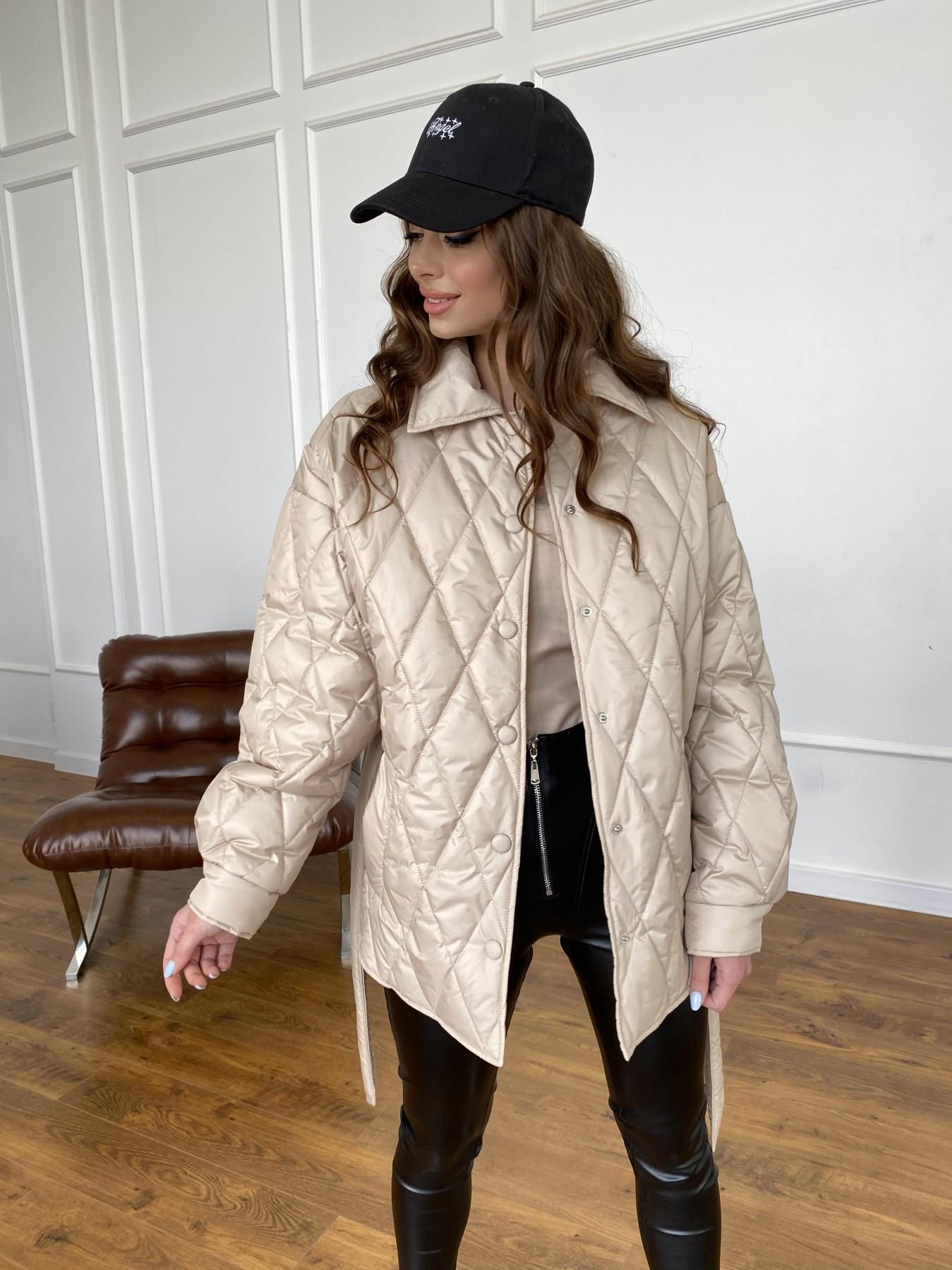 Моно  куртка из плащевой ткани Gloria 11081 АРТ. 47571 Цвет: Бежевый - фото 8, интернет магазин tm-modus.ru