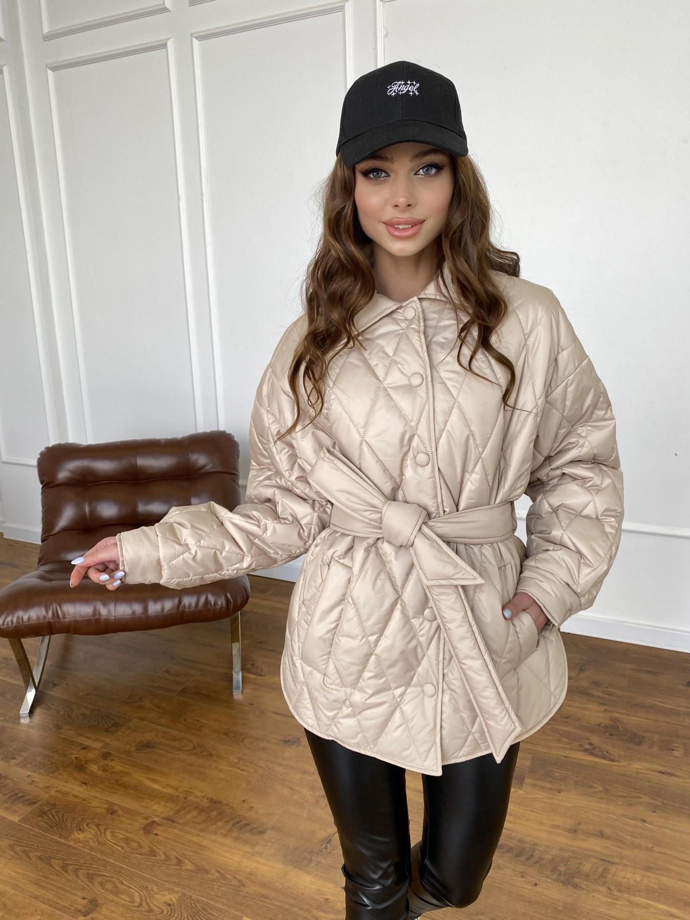 Моно  куртка из плащевой ткани Gloria 11081 АРТ. 47571 Цвет: Бежевый - фото 11, интернет магазин tm-modus.ru