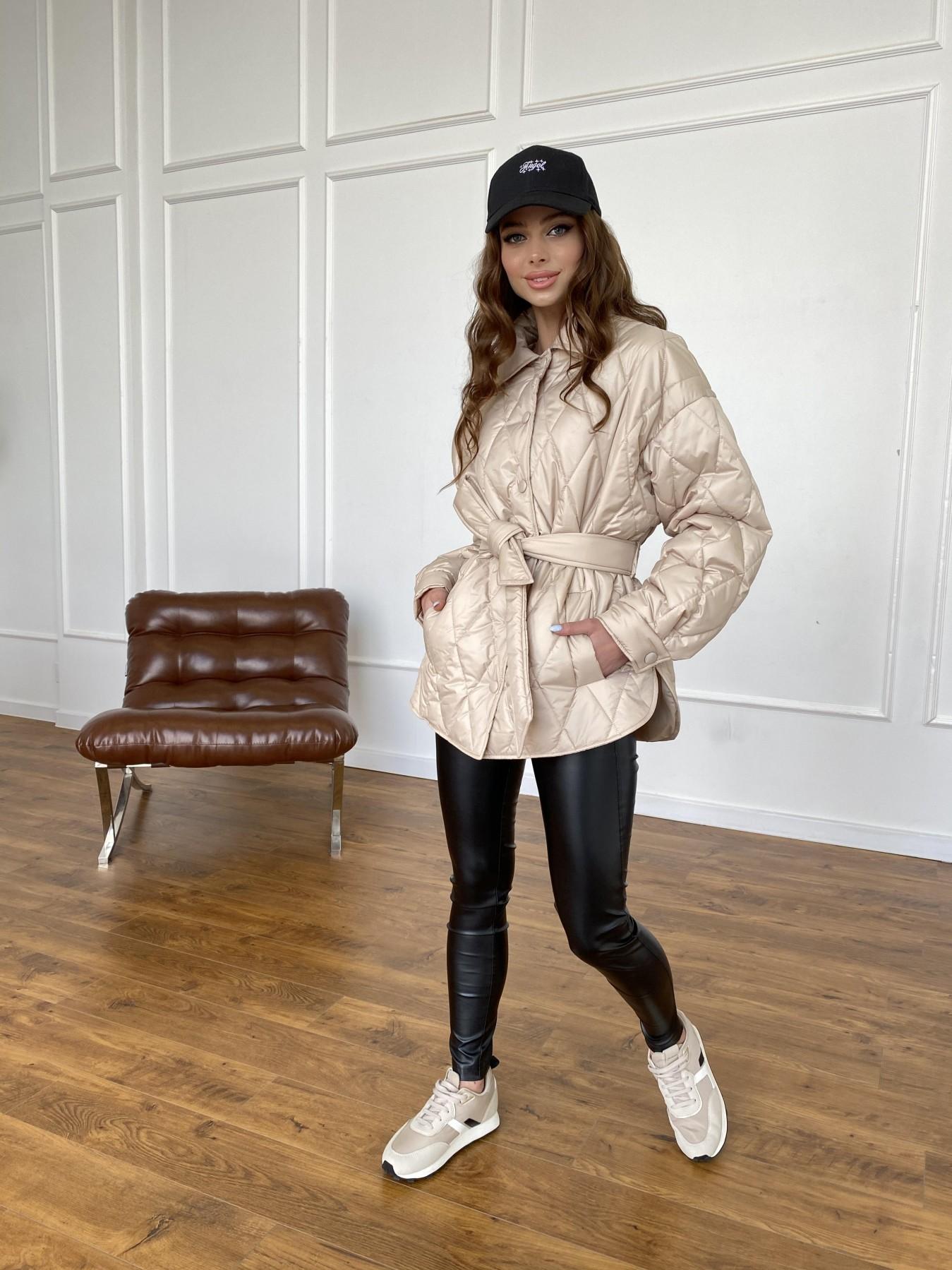 Моно  куртка из плащевой ткани Gloria 11081 АРТ. 47571 Цвет: Бежевый - фото 12, интернет магазин tm-modus.ru