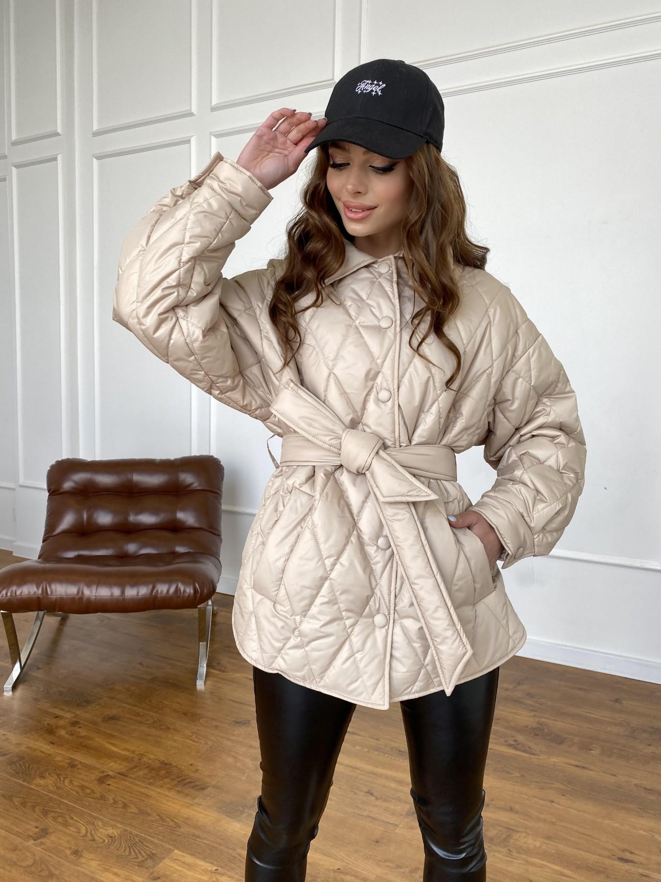 Моно  куртка из плащевой ткани Gloria 11081 АРТ. 47571 Цвет: Бежевый - фото 13, интернет магазин tm-modus.ru