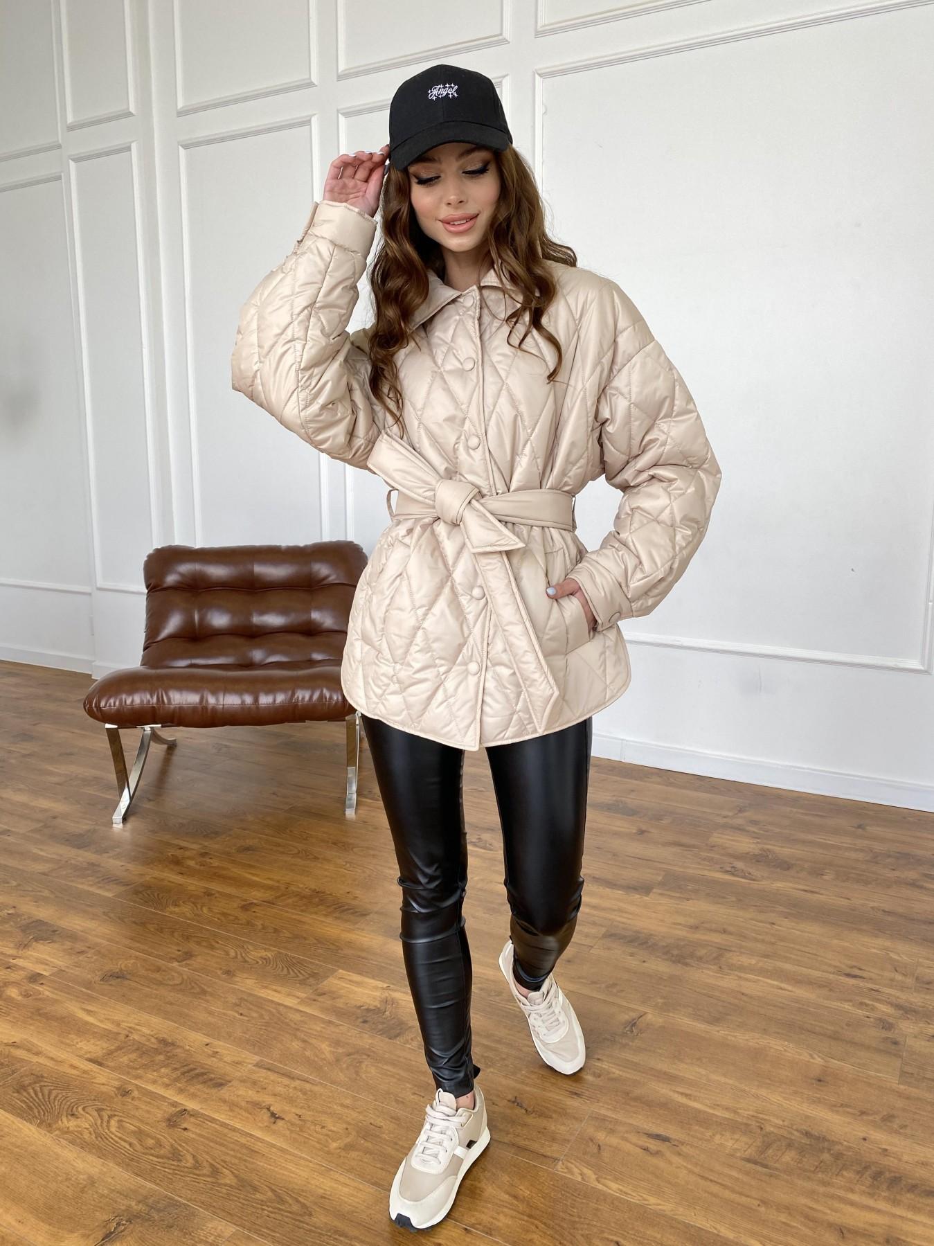 Моно  куртка из плащевой ткани Gloria 11081 АРТ. 47571 Цвет: Бежевый - фото 15, интернет магазин tm-modus.ru