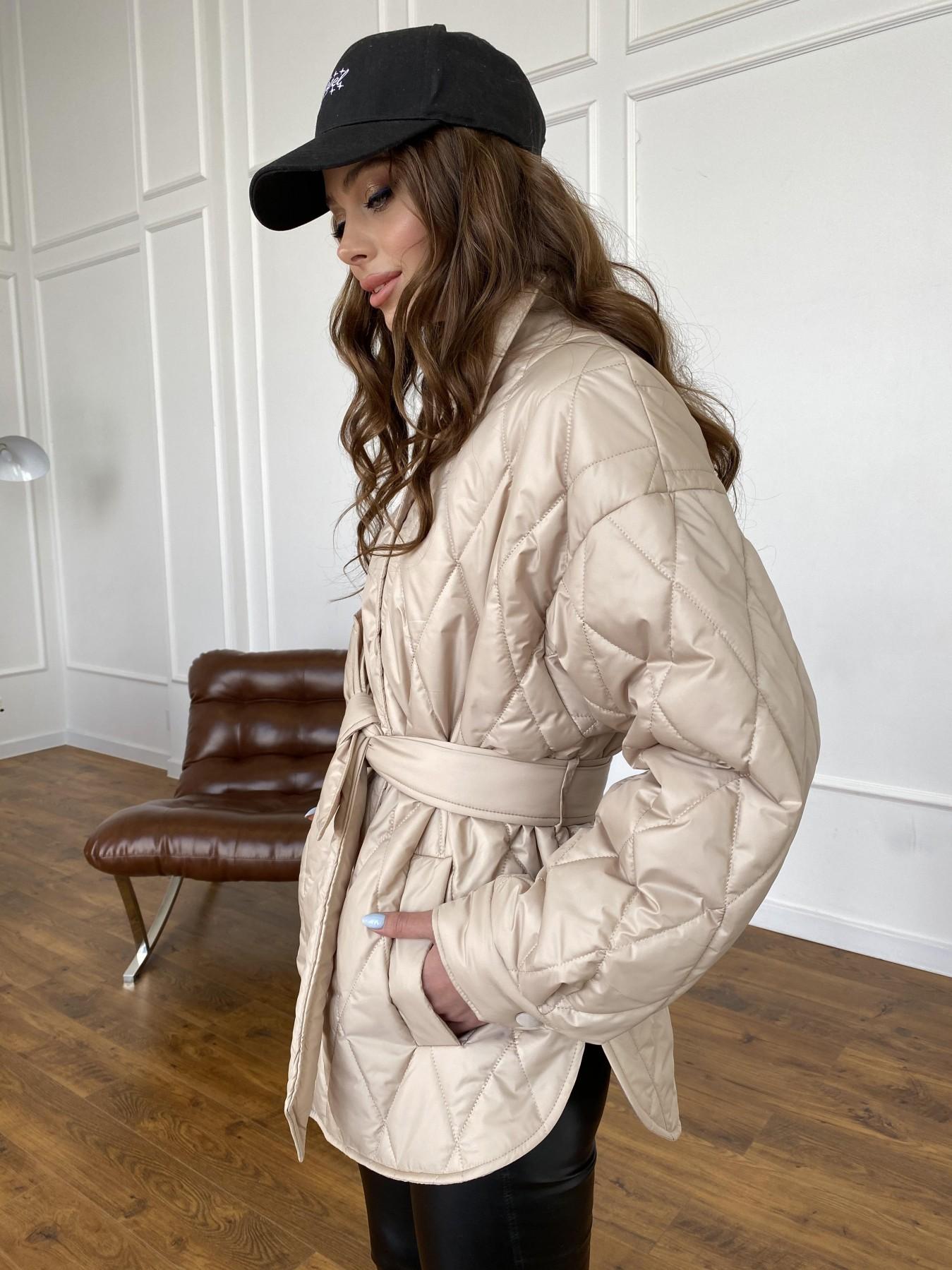 Моно  куртка из плащевой ткани Gloria 11081 АРТ. 47571 Цвет: Бежевый - фото 16, интернет магазин tm-modus.ru