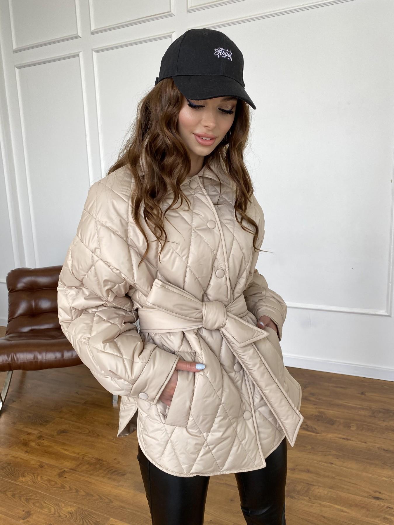 Моно  куртка из плащевой ткани Gloria 11081 АРТ. 47571 Цвет: Бежевый - фото 17, интернет магазин tm-modus.ru