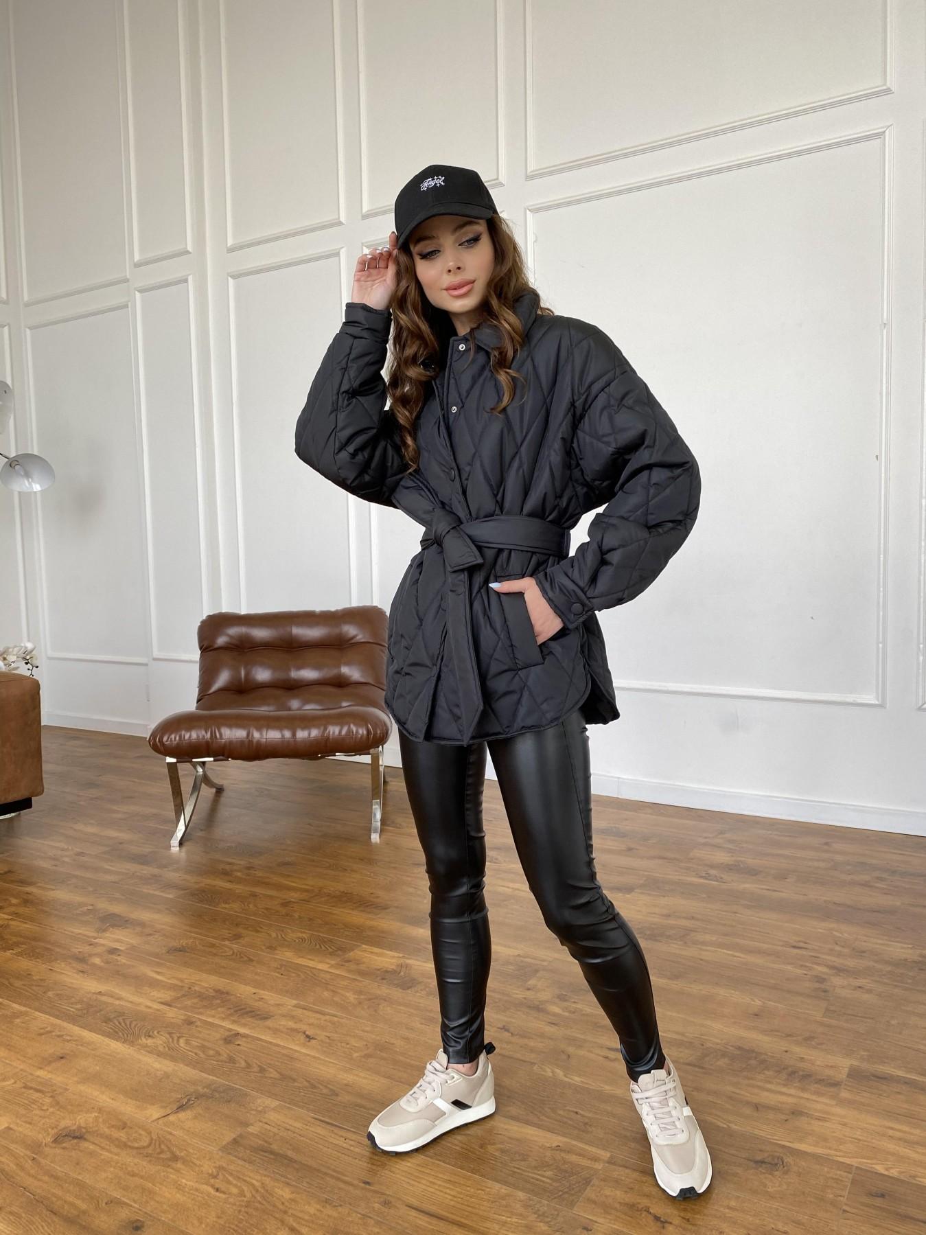 Моно куртка из плащевой ткани Ammy 10972 АРТ. 47618 Цвет: Черный - фото 2, интернет магазин tm-modus.ru