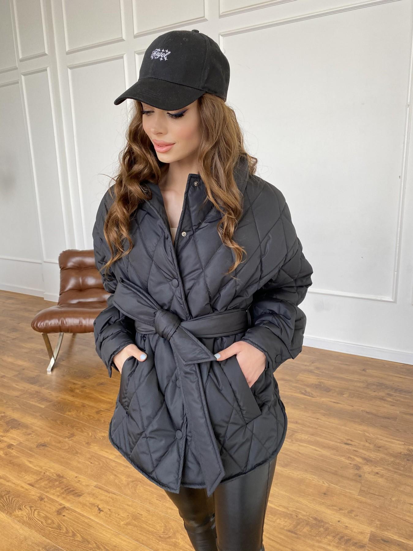 Моно куртка из плащевой ткани Ammy 10972 АРТ. 47618 Цвет: Черный - фото 3, интернет магазин tm-modus.ru