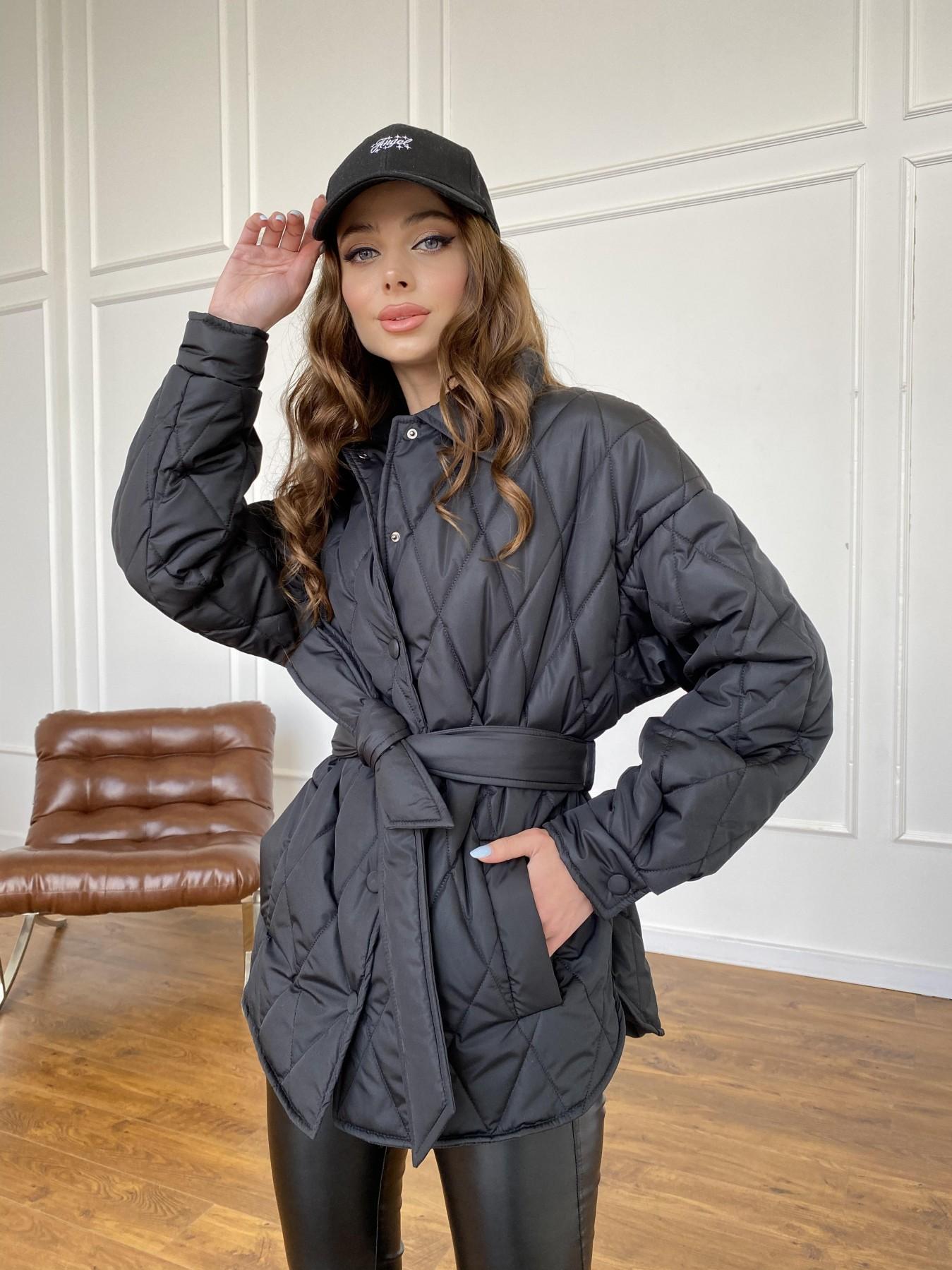 Моно куртка из плащевой ткани Ammy 10972 АРТ. 47618 Цвет: Черный - фото 4, интернет магазин tm-modus.ru