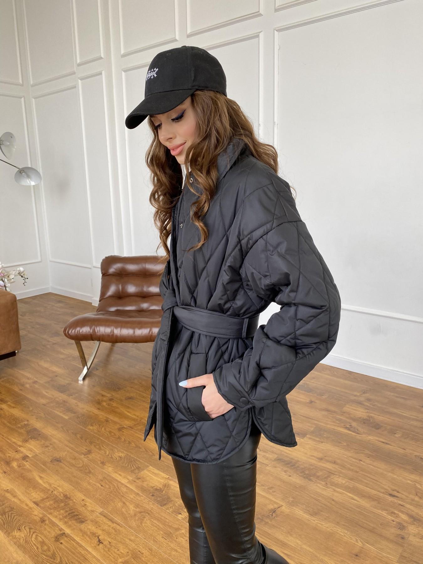 Моно куртка из плащевой ткани Ammy 10972 АРТ. 47618 Цвет: Черный - фото 5, интернет магазин tm-modus.ru