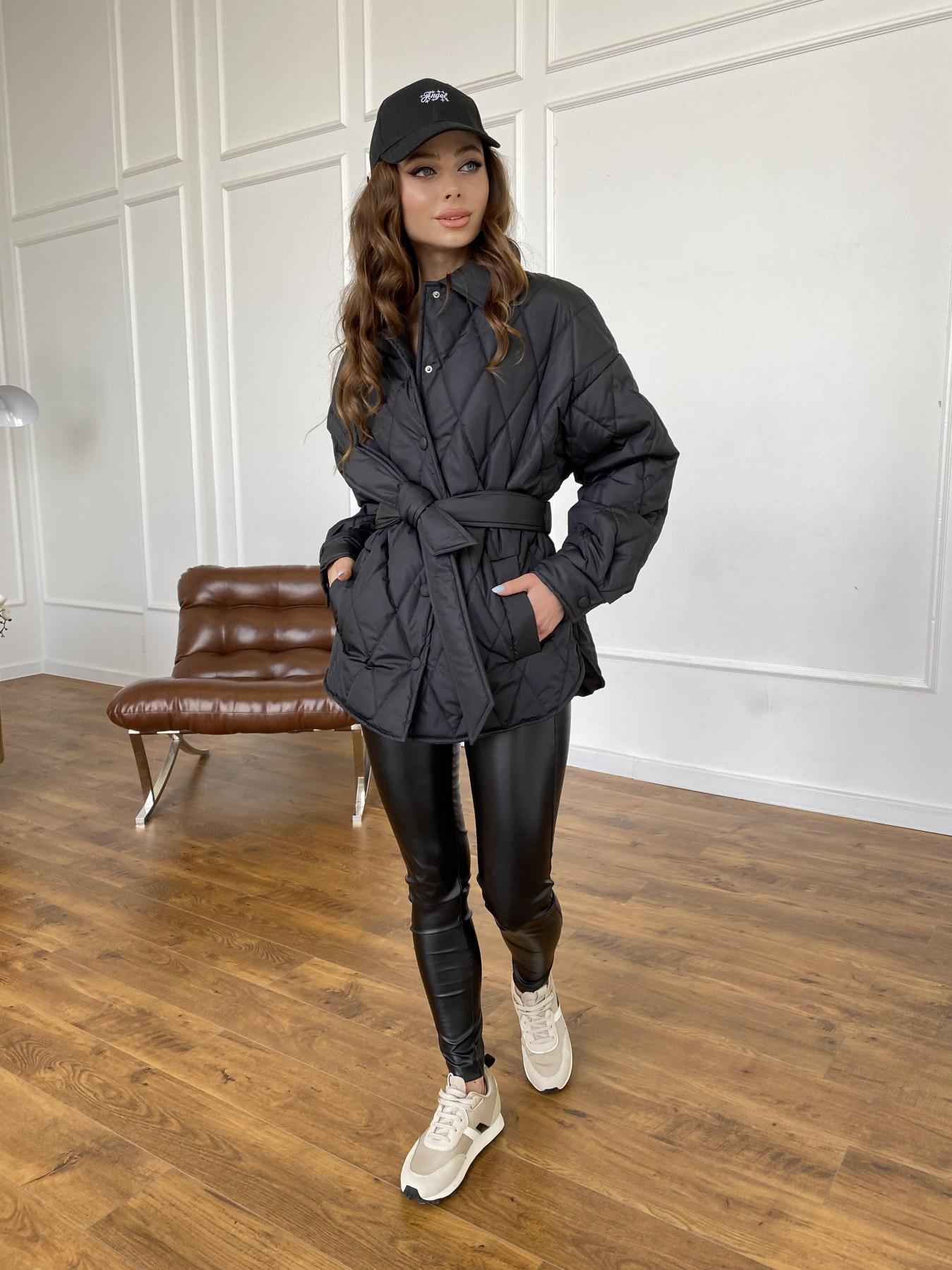 Моно куртка из плащевой ткани Ammy 10972 АРТ. 47618 Цвет: Черный - фото 6, интернет магазин tm-modus.ru