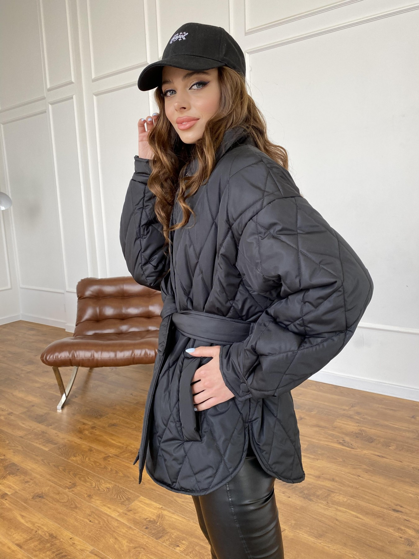 Моно куртка из плащевой ткани Ammy 10972 АРТ. 47618 Цвет: Черный - фото 8, интернет магазин tm-modus.ru