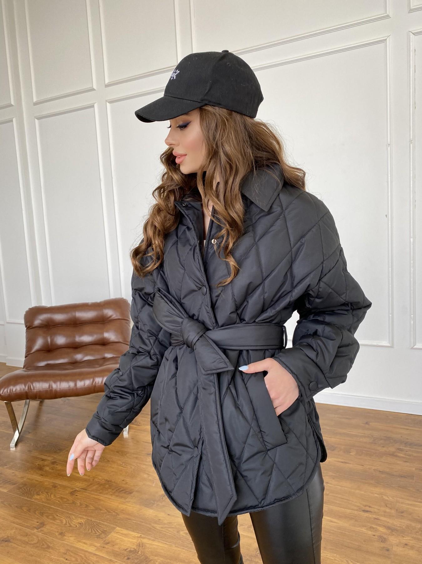 Моно куртка из плащевой ткани Ammy 10972 АРТ. 47618 Цвет: Черный - фото 9, интернет магазин tm-modus.ru