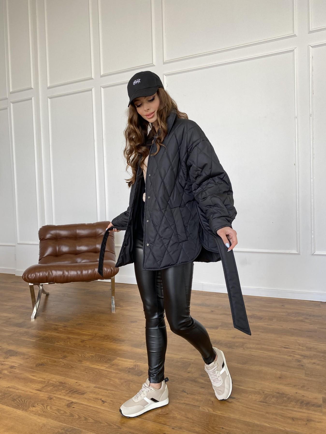 Моно куртка из плащевой ткани Ammy 10972 АРТ. 47618 Цвет: Черный - фото 10, интернет магазин tm-modus.ru