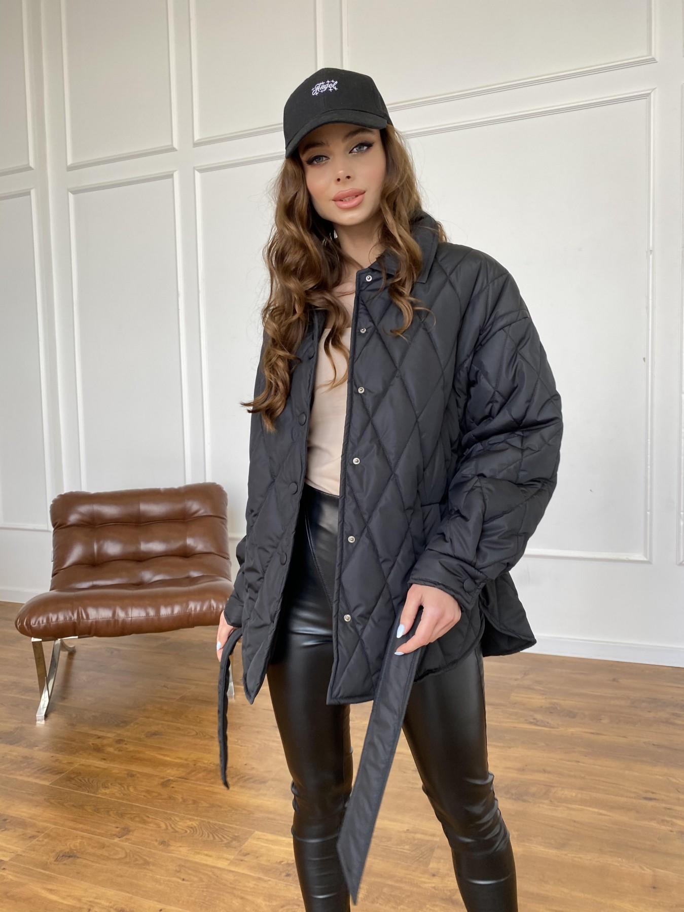 Моно куртка из плащевой ткани Ammy 10972 АРТ. 47618 Цвет: Черный - фото 11, интернет магазин tm-modus.ru