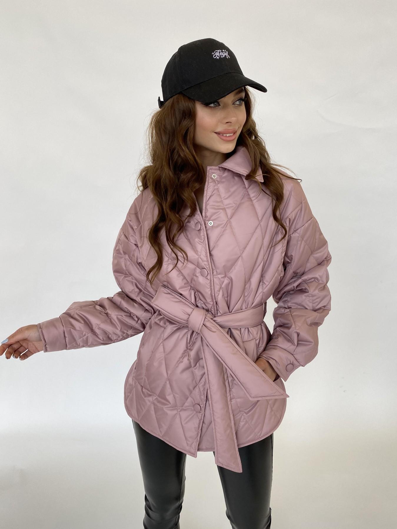 Моно  куртка из плащевой ткани Gloria 11081 АРТ. 47647 Цвет: Пудра - фото 2, интернет магазин tm-modus.ru