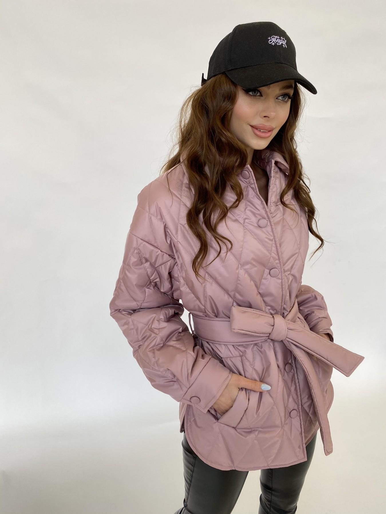 Моно  куртка из плащевой ткани Gloria 11081 АРТ. 47647 Цвет: Пудра - фото 3, интернет магазин tm-modus.ru