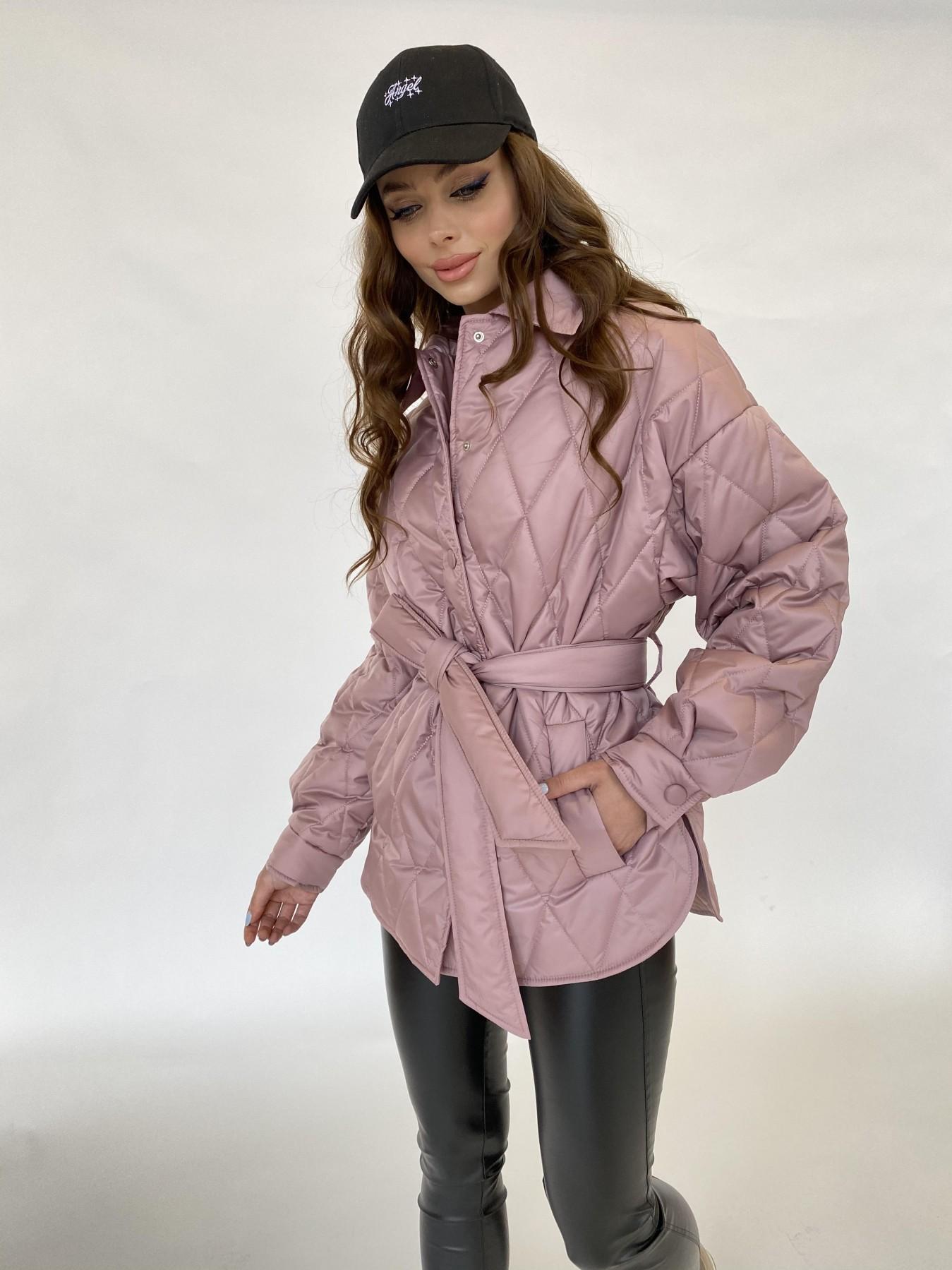 Моно  куртка из плащевой ткани Gloria 11081 АРТ. 47647 Цвет: Пудра - фото 4, интернет магазин tm-modus.ru