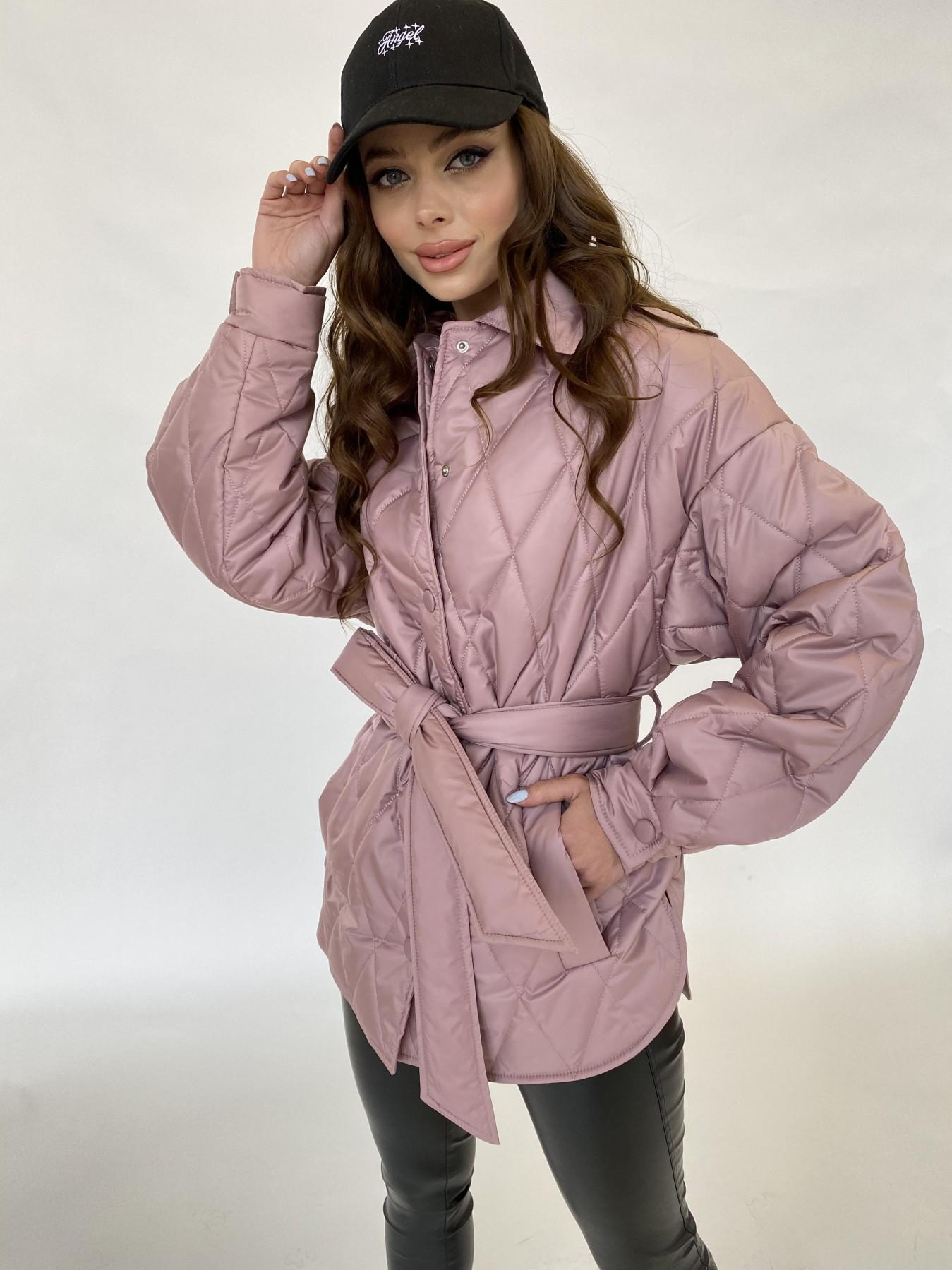 Моно  куртка из плащевой ткани Gloria 11081 АРТ. 47647 Цвет: Пудра - фото 5, интернет магазин tm-modus.ru