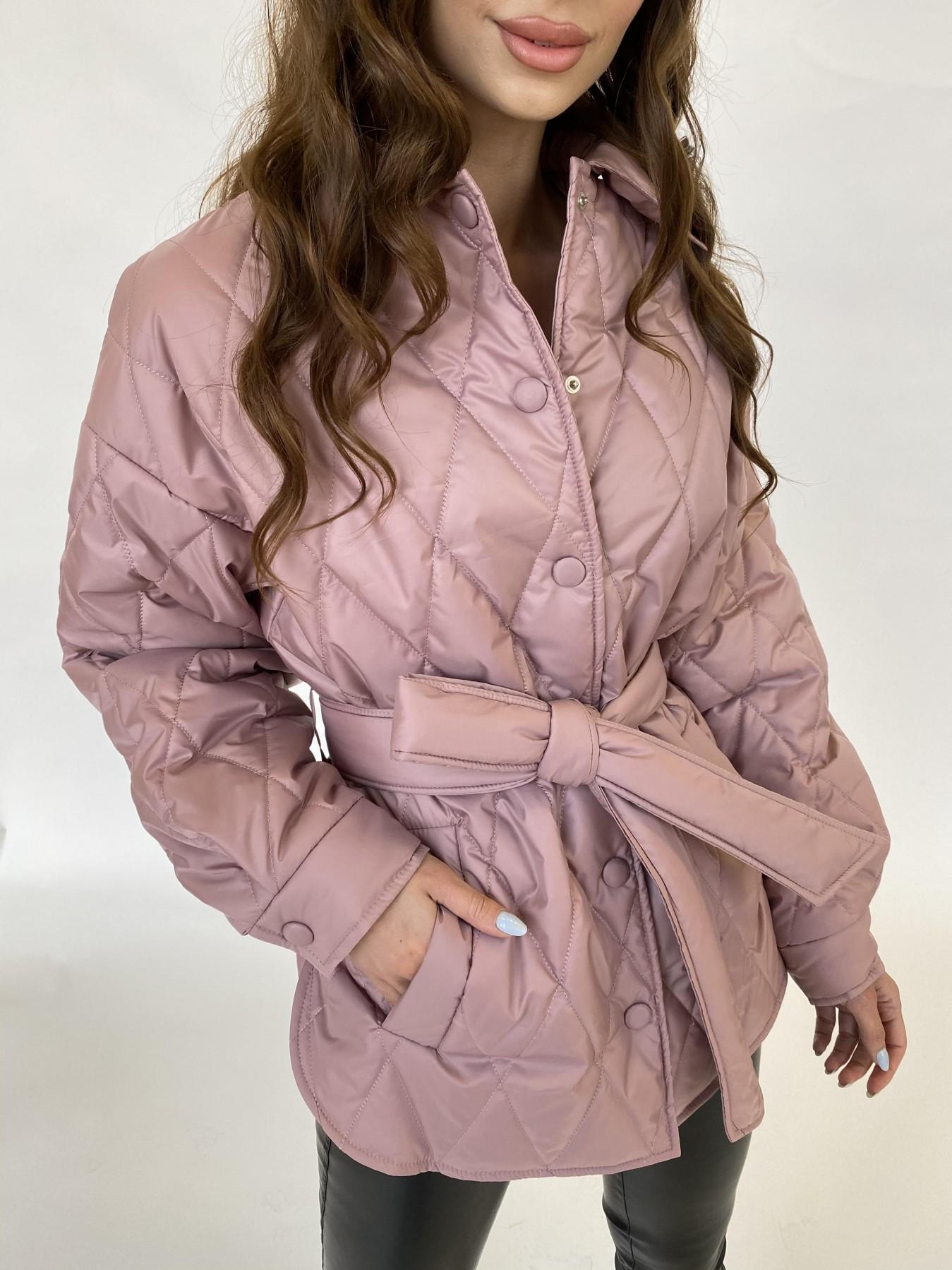 Моно  куртка из плащевой ткани Gloria 11081 АРТ. 47647 Цвет: Пудра - фото 6, интернет магазин tm-modus.ru