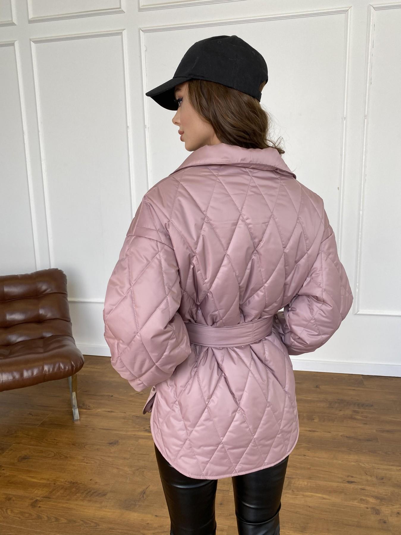Моно  куртка из плащевой ткани Gloria 11081 АРТ. 47647 Цвет: Пудра - фото 7, интернет магазин tm-modus.ru
