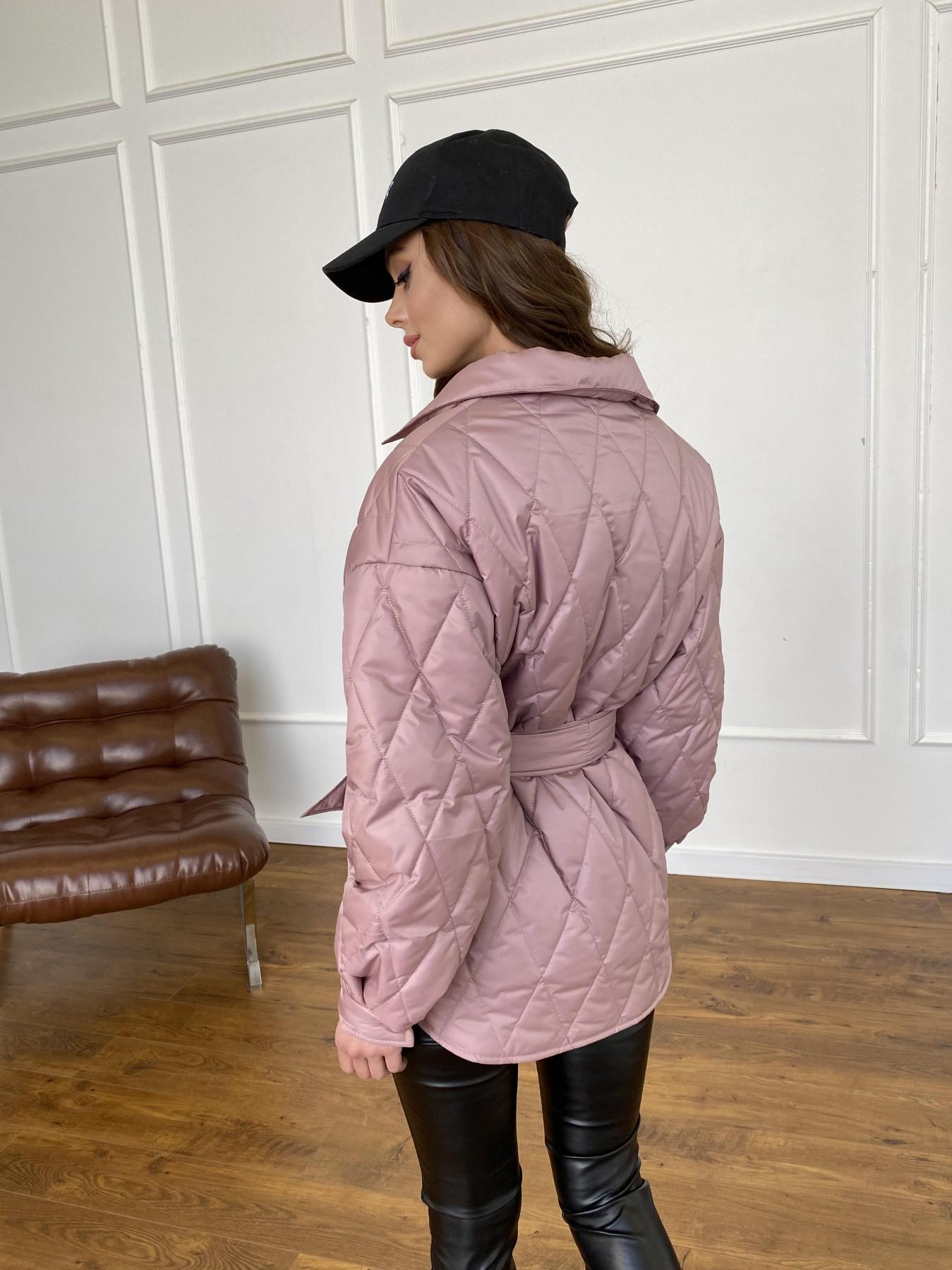 Моно  куртка из плащевой ткани Gloria 11081 АРТ. 47647 Цвет: Пудра - фото 9, интернет магазин tm-modus.ru
