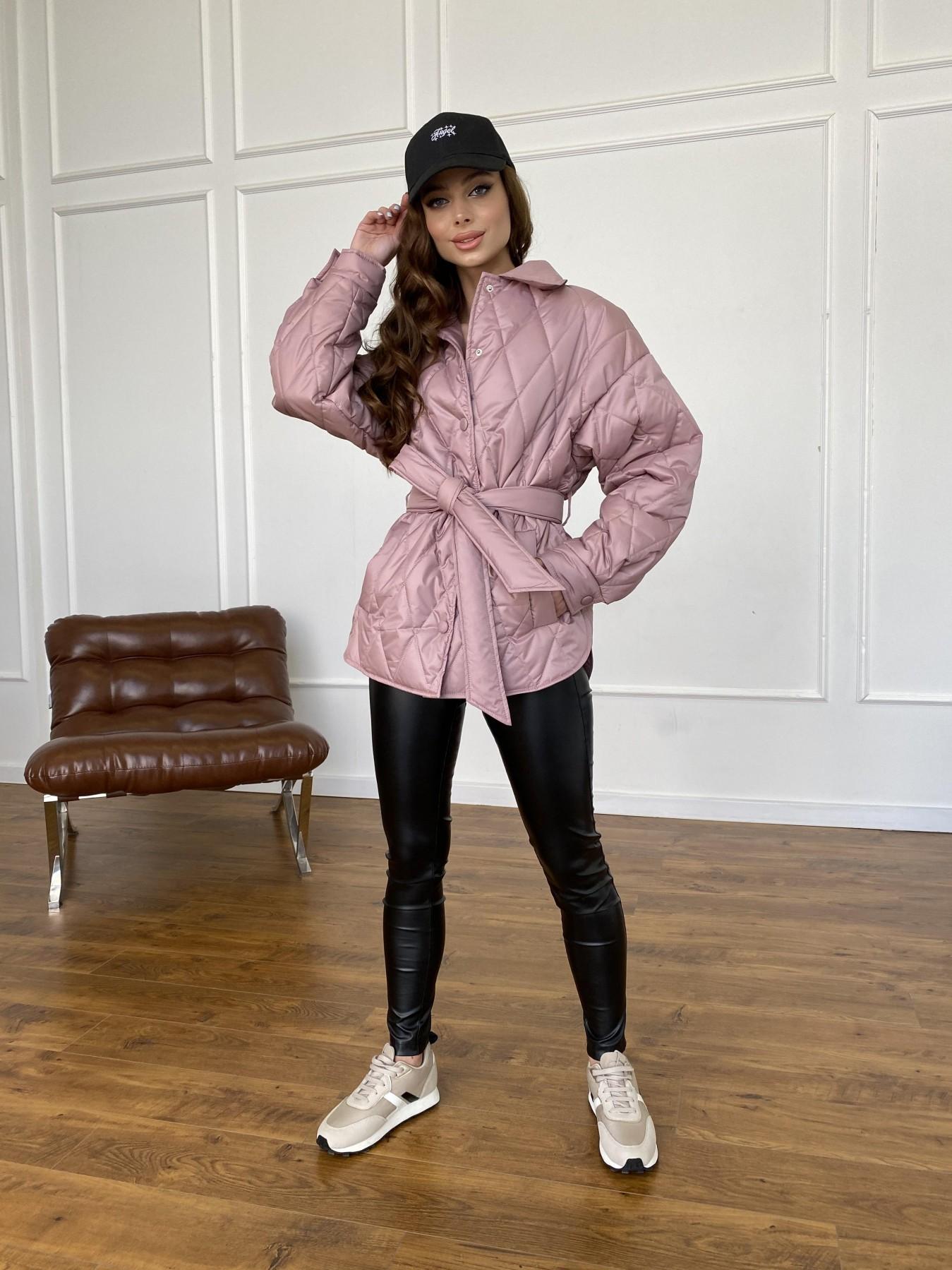 Моно  куртка из плащевой ткани Gloria 11081 АРТ. 47647 Цвет: Пудра - фото 10, интернет магазин tm-modus.ru