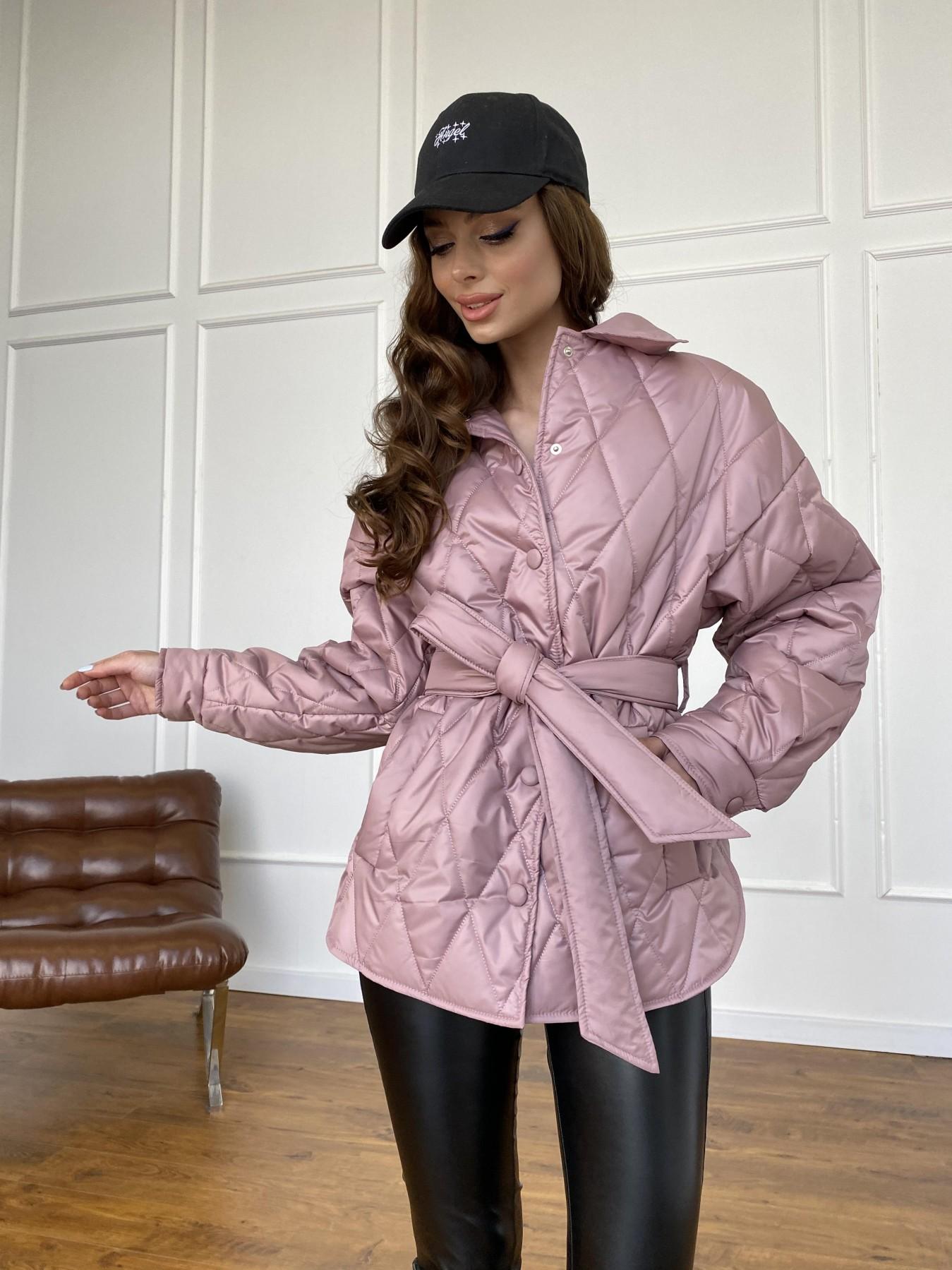 Моно  куртка из плащевой ткани Gloria 11081 АРТ. 47647 Цвет: Пудра - фото 11, интернет магазин tm-modus.ru