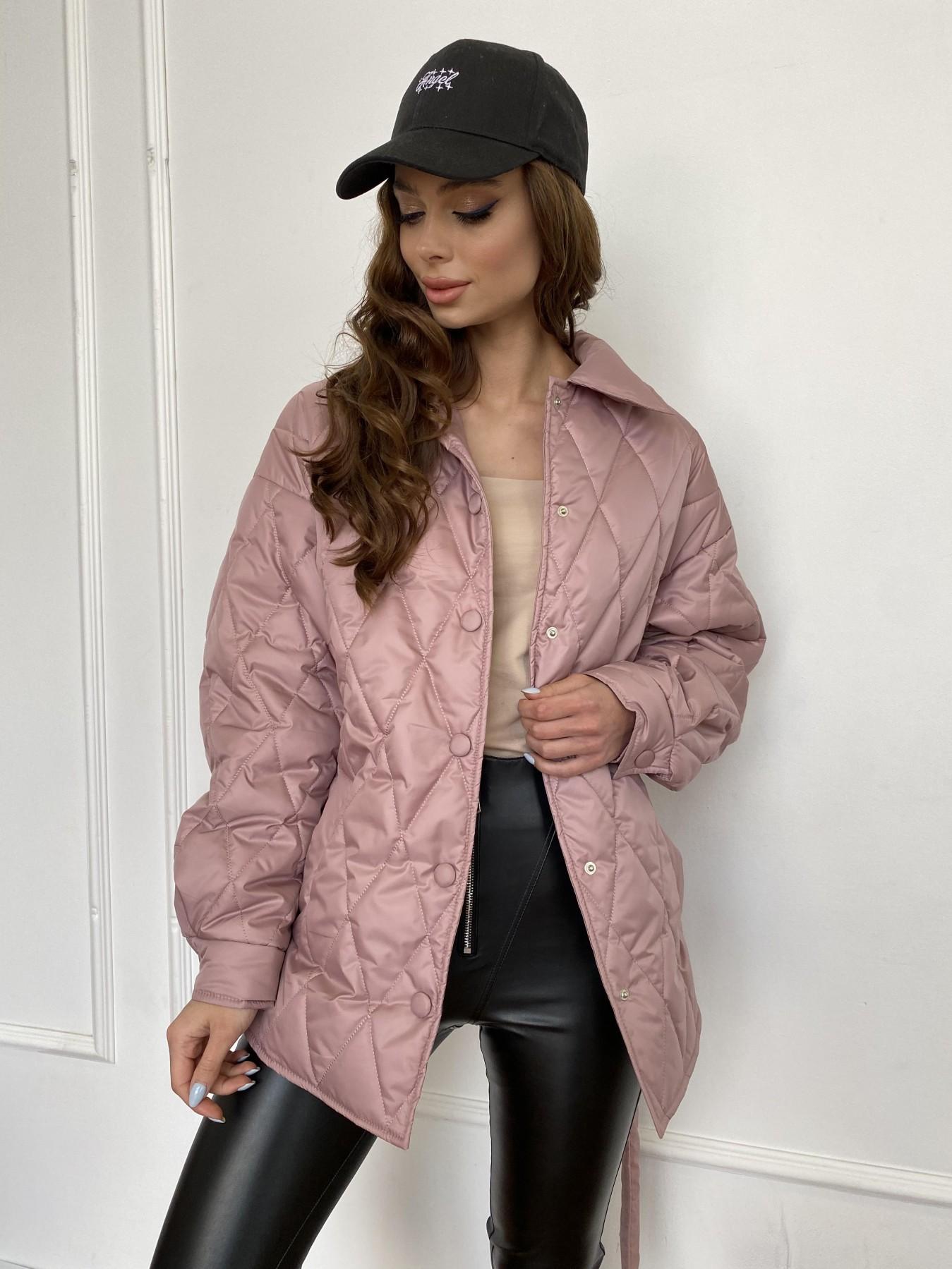 Моно  куртка из плащевой ткани Gloria 11081 АРТ. 47647 Цвет: Пудра - фото 14, интернет магазин tm-modus.ru