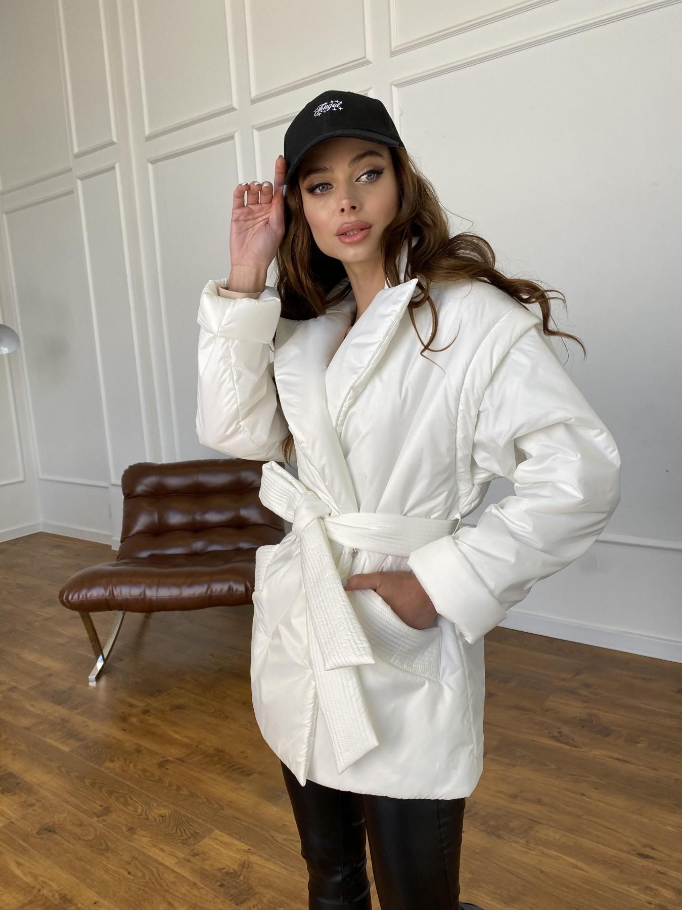 Форбс куртка-жилет из плащевой ткани Ammy  11159 АРТ. 47659 Цвет: Молоко 12 - фото 3, интернет магазин tm-modus.ru