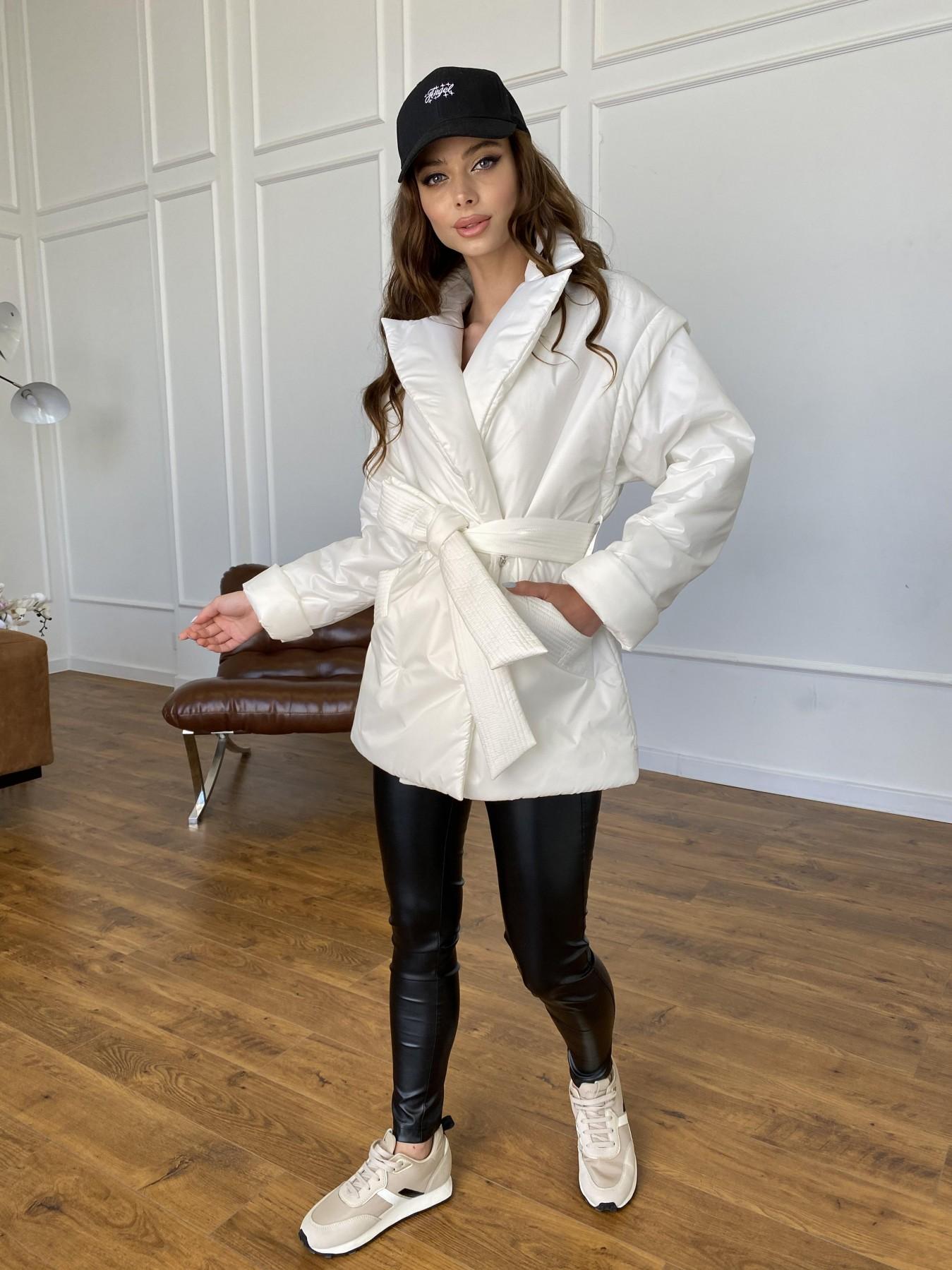 Форбс куртка-жилет из плащевой ткани Ammy  11159 АРТ. 47659 Цвет: Молоко 12 - фото 4, интернет магазин tm-modus.ru