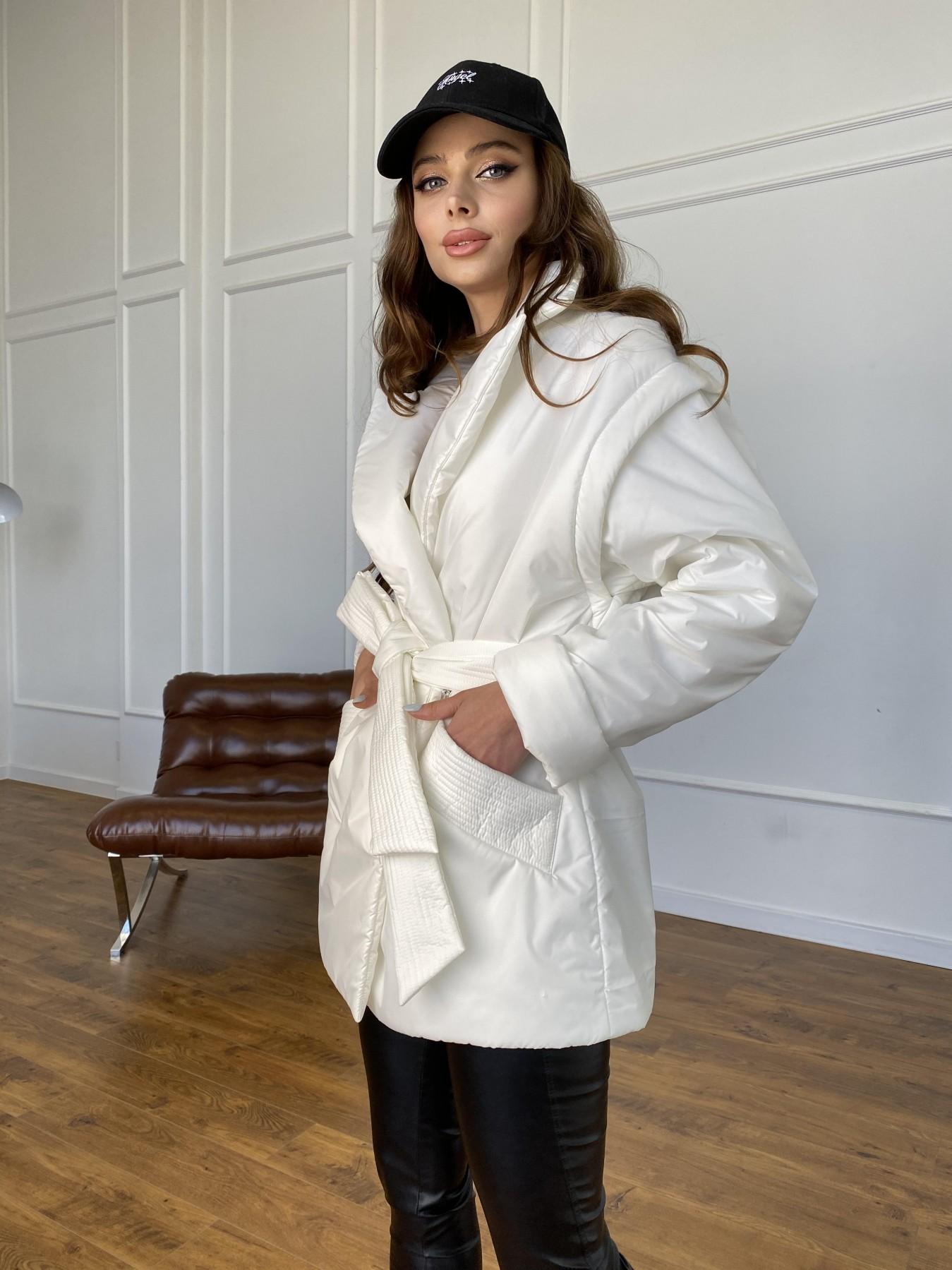 Форбс куртка-жилет из плащевой ткани Ammy  11159 АРТ. 47659 Цвет: Молоко 12 - фото 6, интернет магазин tm-modus.ru
