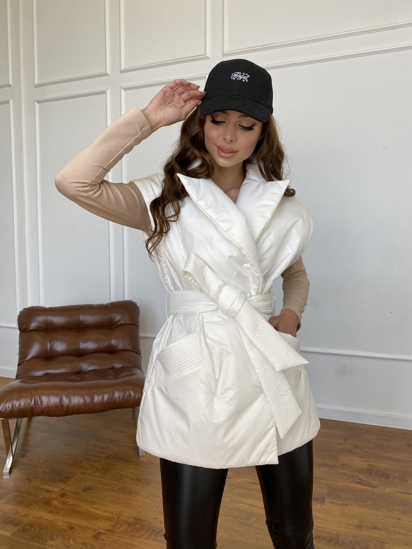 Форбс куртка-жилет из плащевой ткани Ammy  11159 АРТ. 47659 Цвет: Молоко 12 - фото 9, интернет магазин tm-modus.ru
