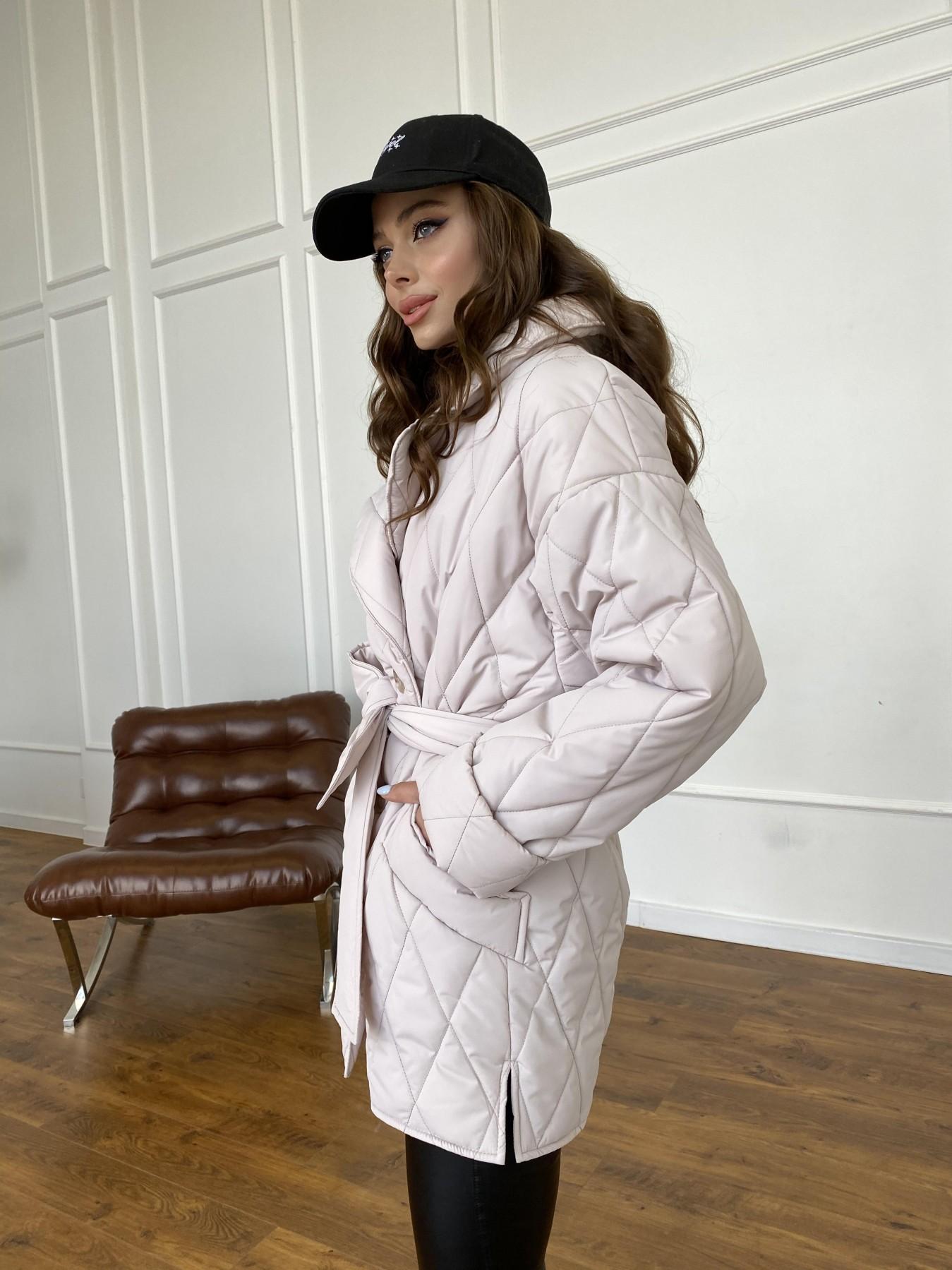 Норд куртка из плащевой ткани стеганая 10883 АРТ. 47551 Цвет: Бежевый 970 - фото 4, интернет магазин tm-modus.ru