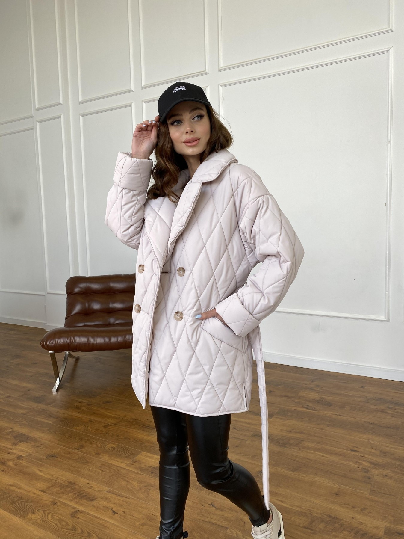 Норд куртка из плащевой ткани стеганая 10883 АРТ. 47551 Цвет: Бежевый 970 - фото 7, интернет магазин tm-modus.ru