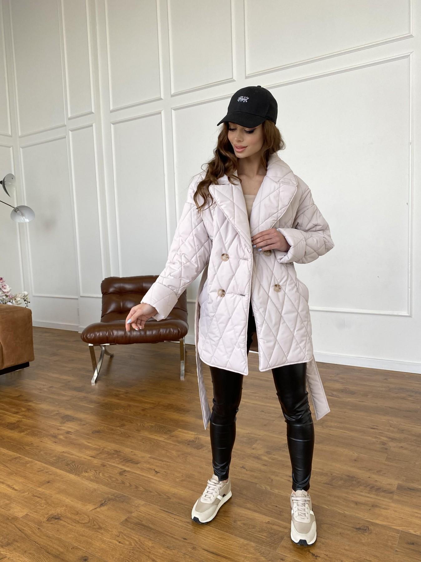 Норд куртка из плащевой ткани стеганая 10883 АРТ. 47551 Цвет: Бежевый 970 - фото 9, интернет магазин tm-modus.ru
