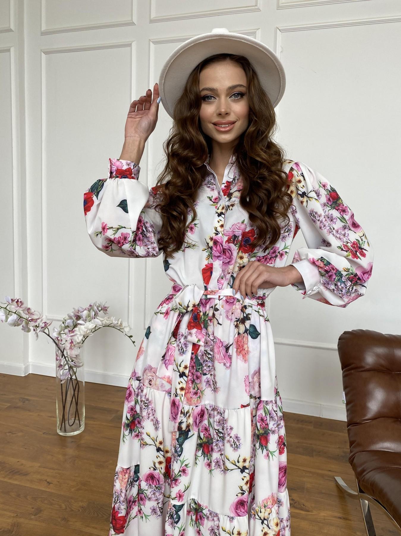 Платье оптом от производителя Modus Лилия платье  софт принт бистрейч 11171