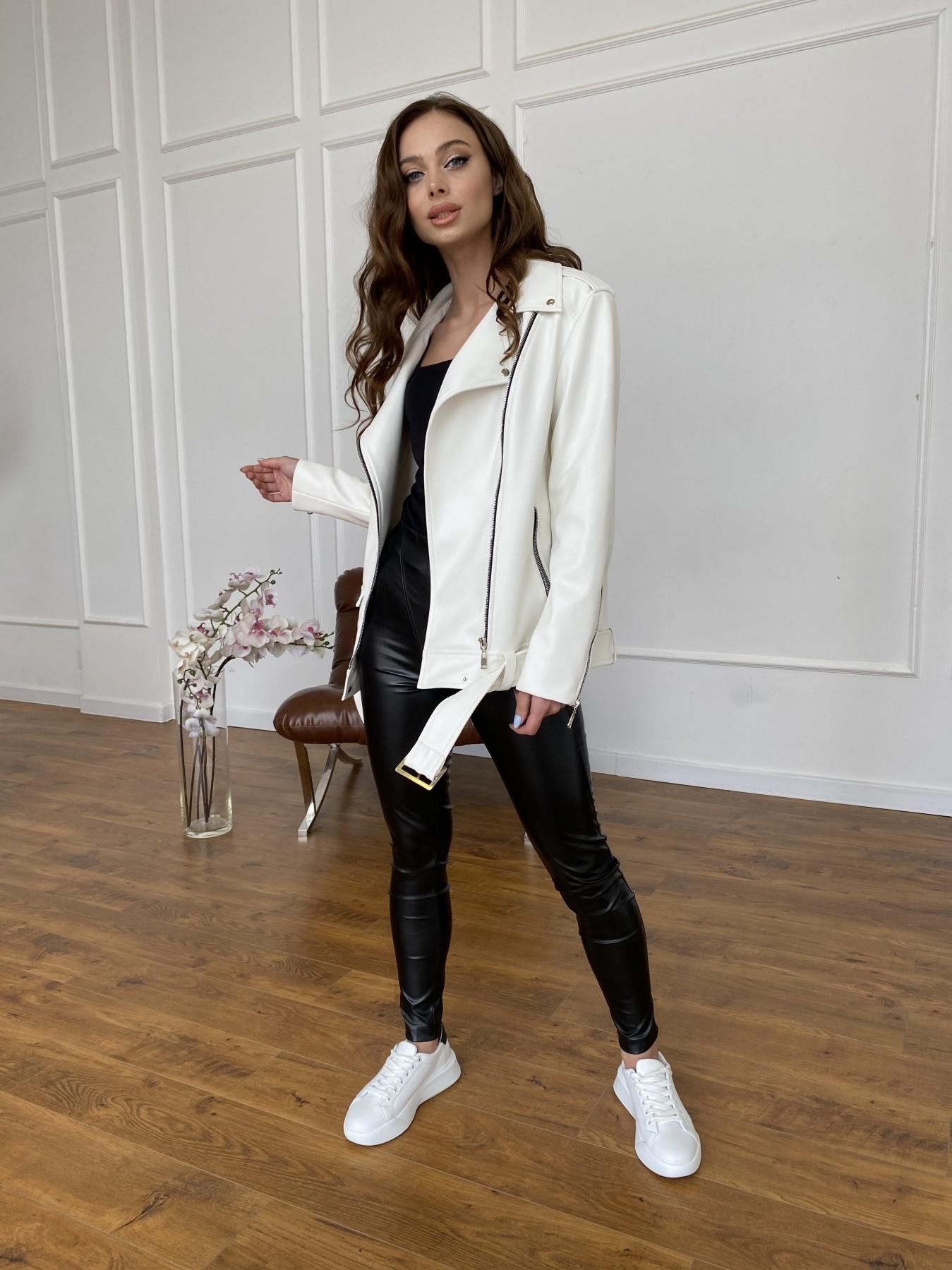 Босс куртка из экокожи прокатанной  11173 АРТ. 47683 Цвет: Молоко - фото 5, интернет магазин tm-modus.ru