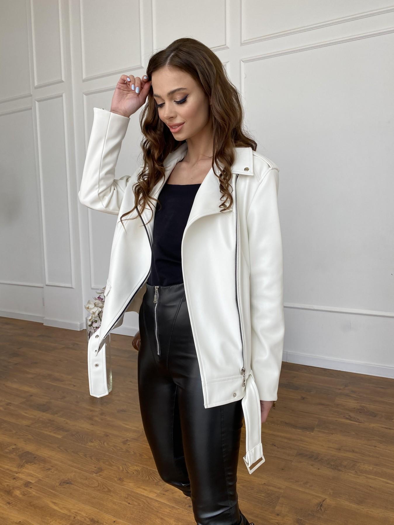 Босс куртка из экокожи прокатанной  11173 АРТ. 47683 Цвет: Молоко - фото 8, интернет магазин tm-modus.ru