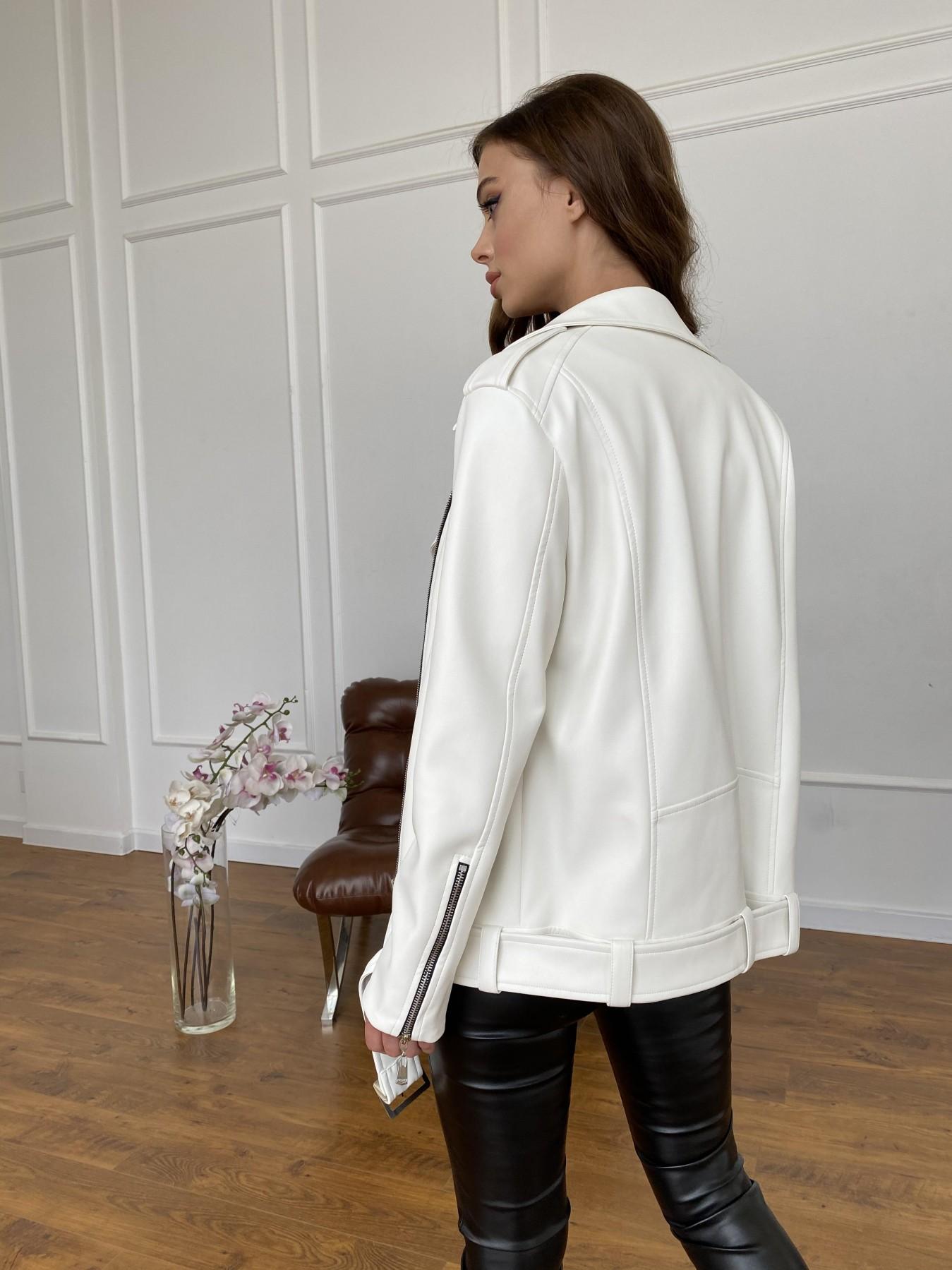 Босс куртка из экокожи прокатанной  11173 АРТ. 47683 Цвет: Молоко - фото 10, интернет магазин tm-modus.ru