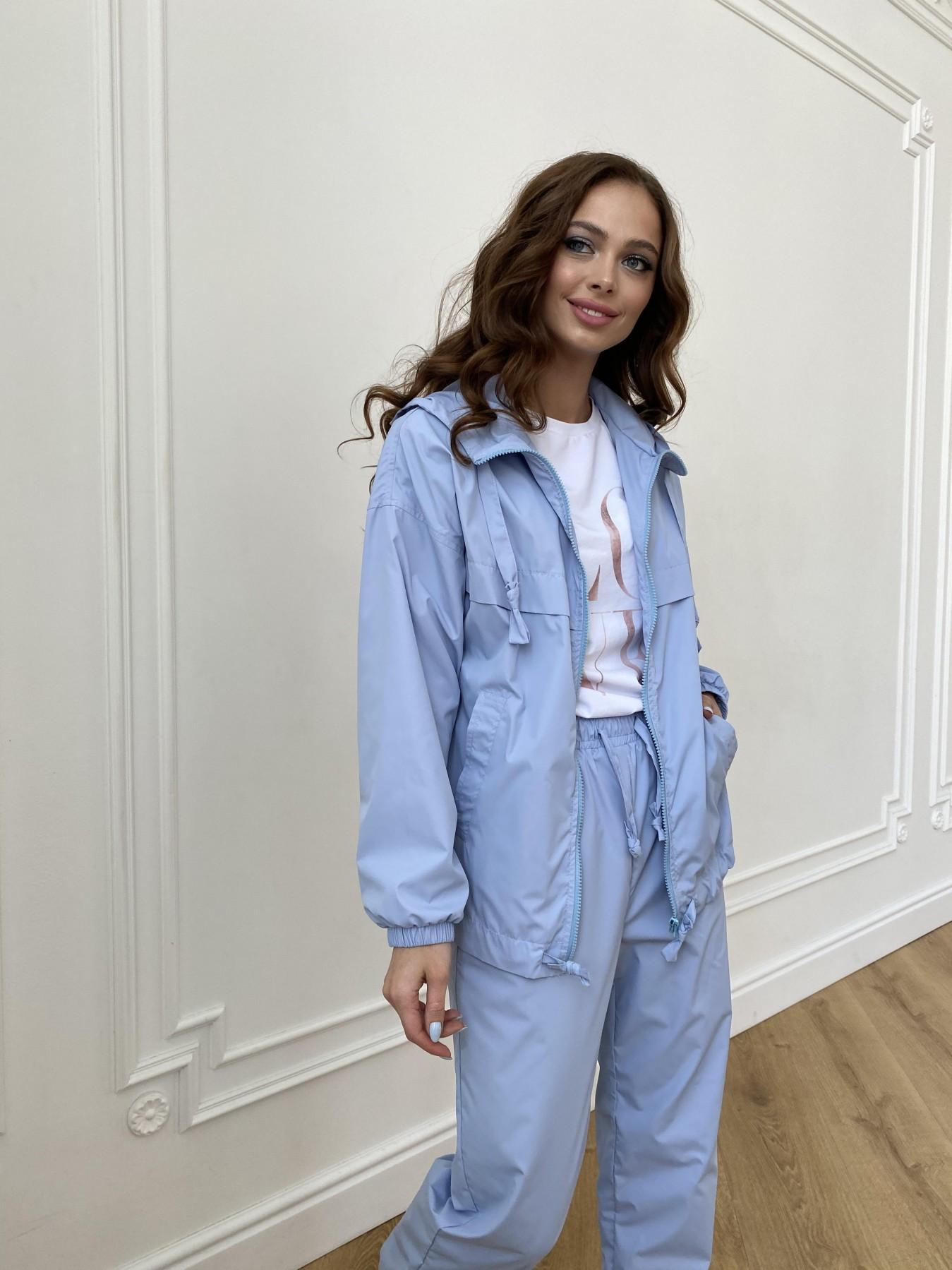 Фит куртка из плащевой ткани Ammy 11013 АРТ. 47712 Цвет: Голубой 1021 - фото 2, интернет магазин tm-modus.ru