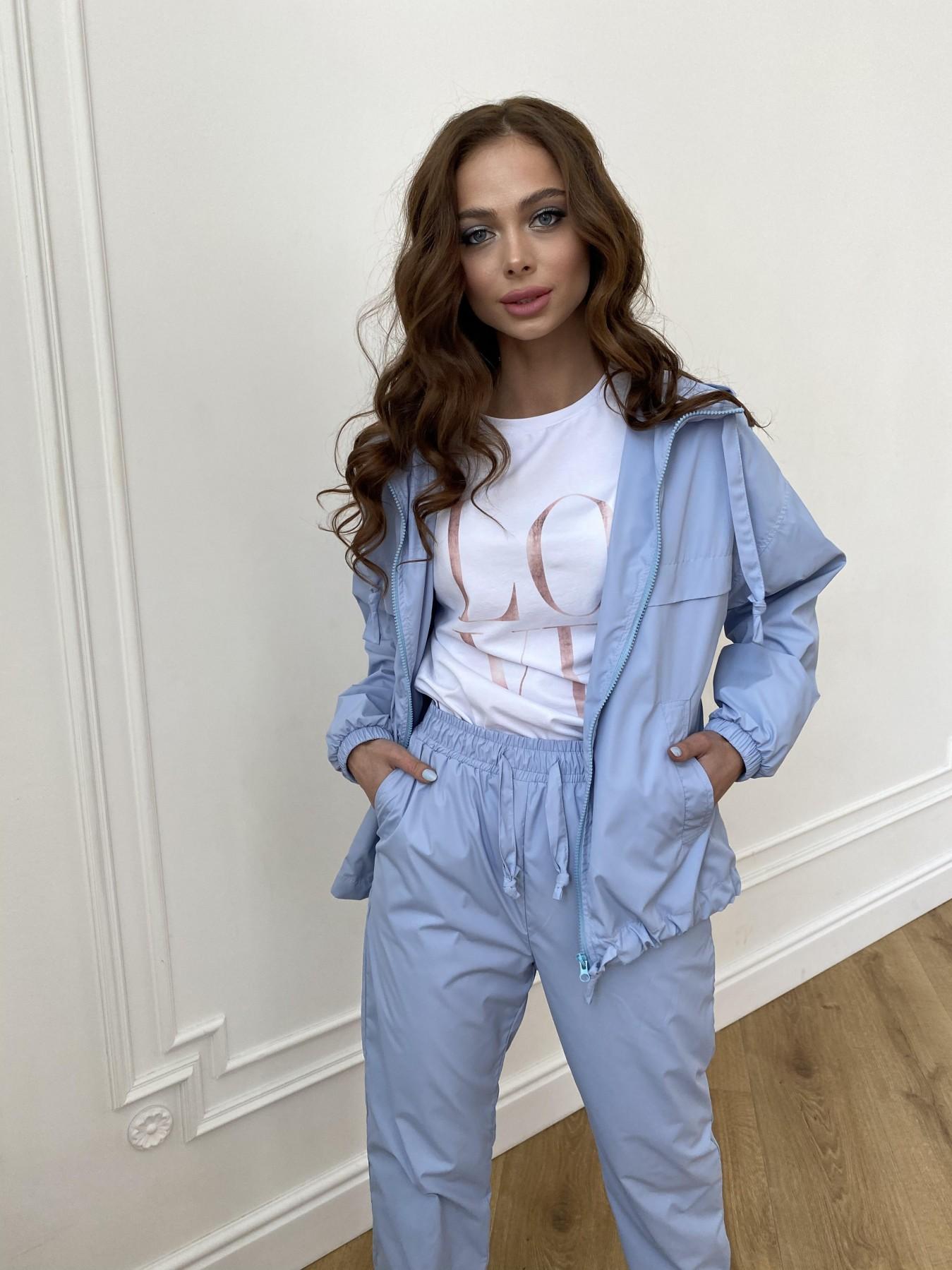 Фит куртка из плащевой ткани Ammy 11013 АРТ. 47712 Цвет: Голубой 1021 - фото 5, интернет магазин tm-modus.ru