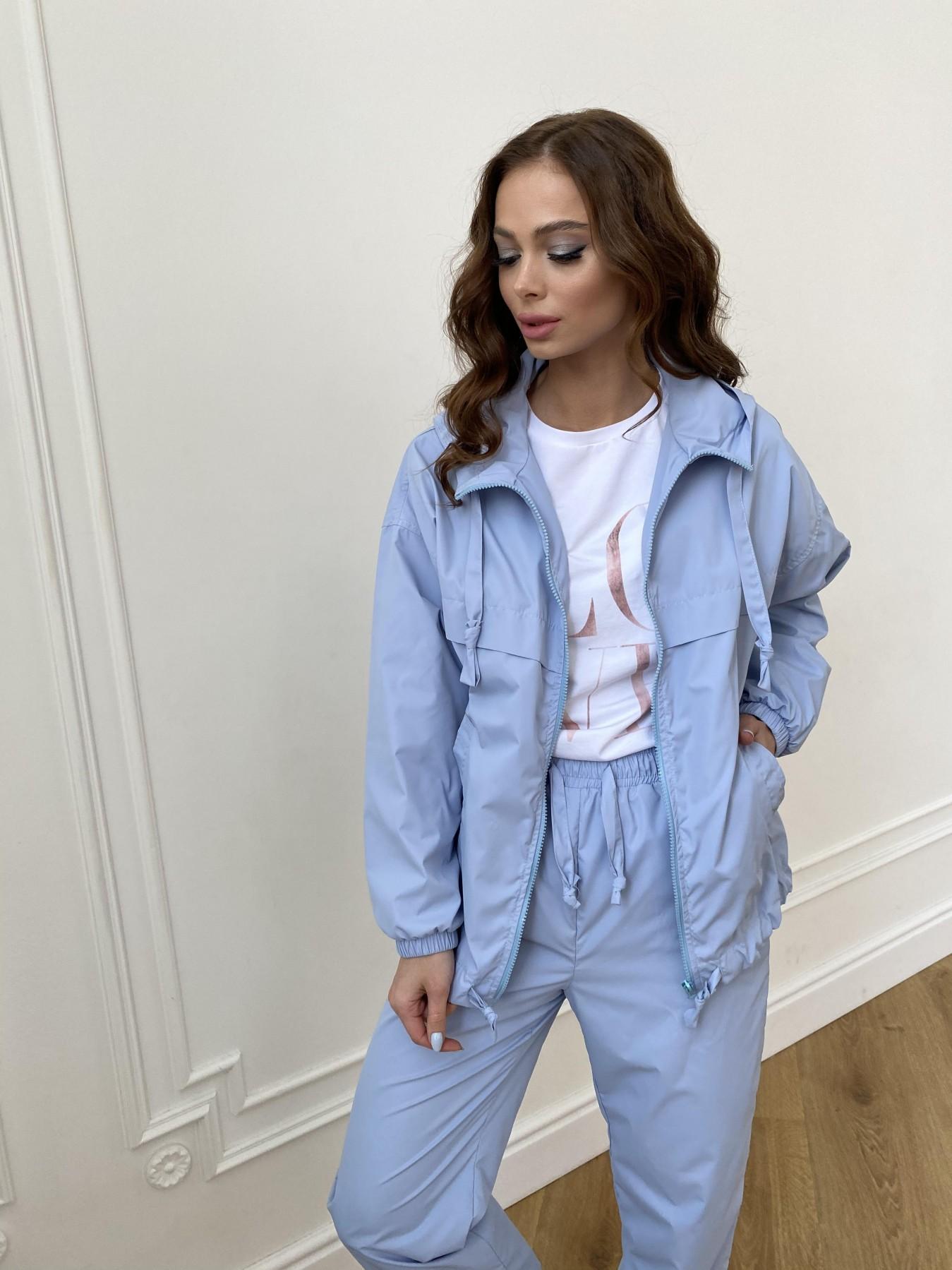 Фит куртка из плащевой ткани Ammy 11013 АРТ. 47712 Цвет: Голубой 1021 - фото 6, интернет магазин tm-modus.ru