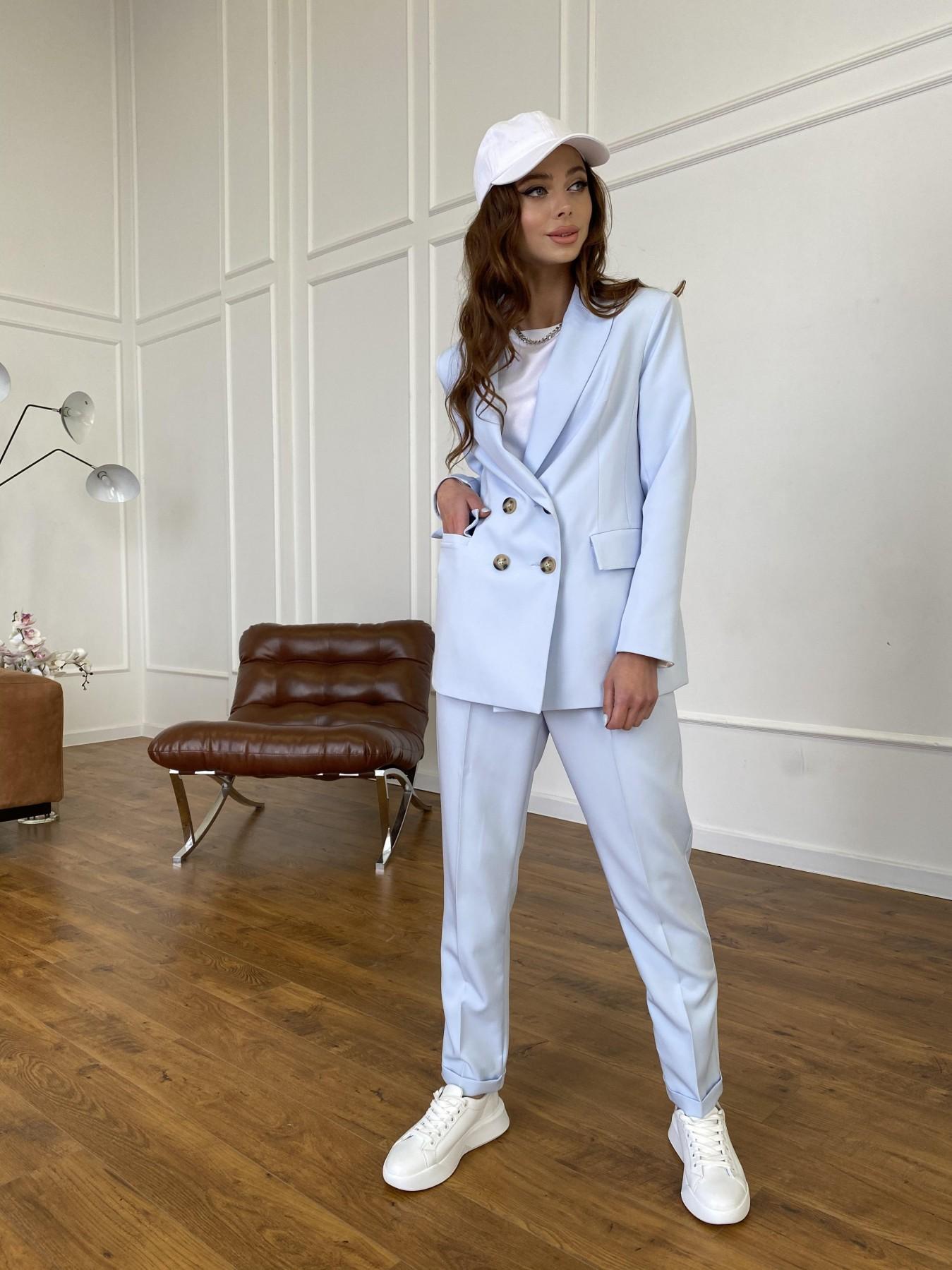 Франко костюм стрейчевый из костюмной ткани 11090 АРТ. 47580 Цвет: Голубой - фото 4, интернет магазин tm-modus.ru
