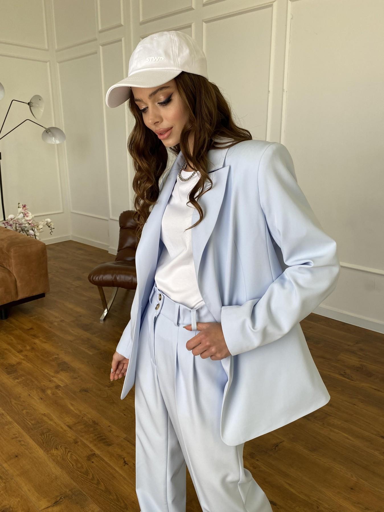 Белисимо жакет из костюмной ткани  стрейч 11192 АРТ. 47697 Цвет: Голубой - фото 2, интернет магазин tm-modus.ru