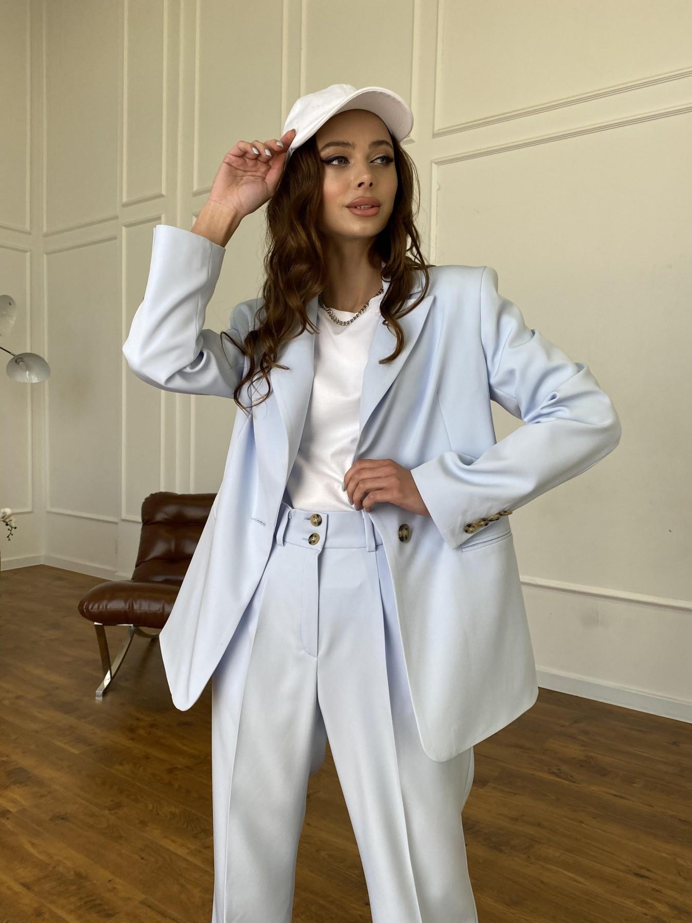 Белисимо жакет из костюмной ткани  стрейч 11192 АРТ. 47697 Цвет: Голубой - фото 3, интернет магазин tm-modus.ru